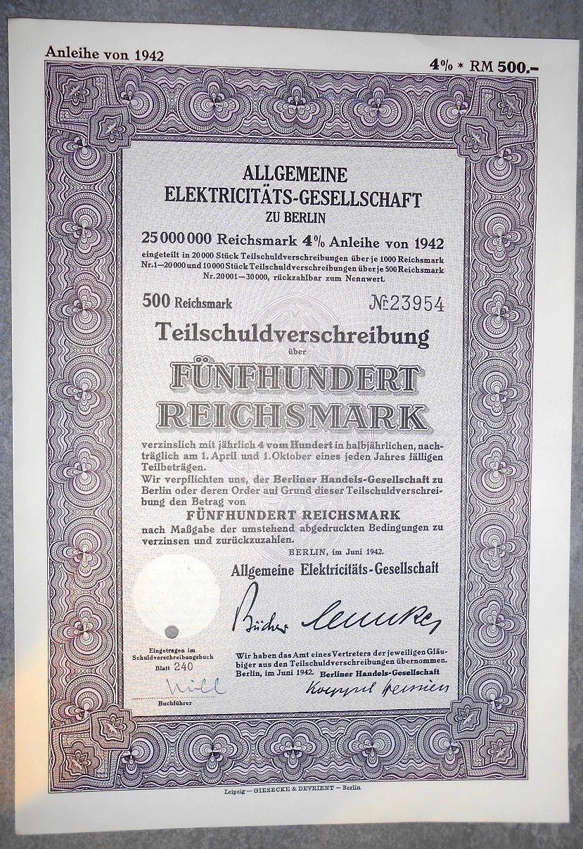AEG SŁYNNA NIEMIECKA FIRMA ELEKTRONICZNA 1942 R !