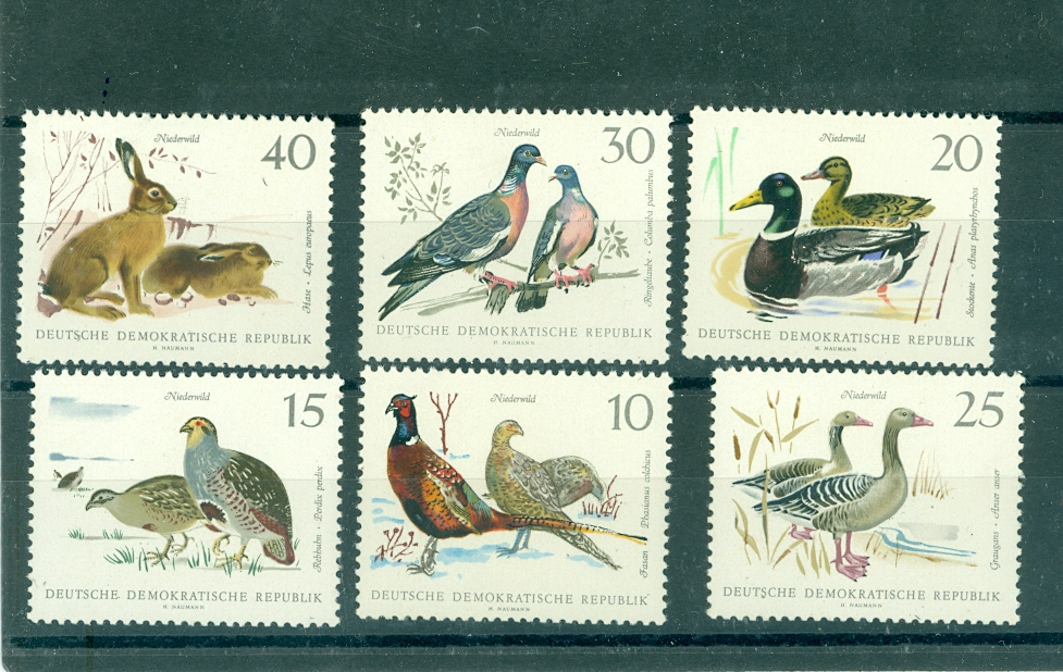 znaczki - DDR / - seria / ptaki / itp -1968