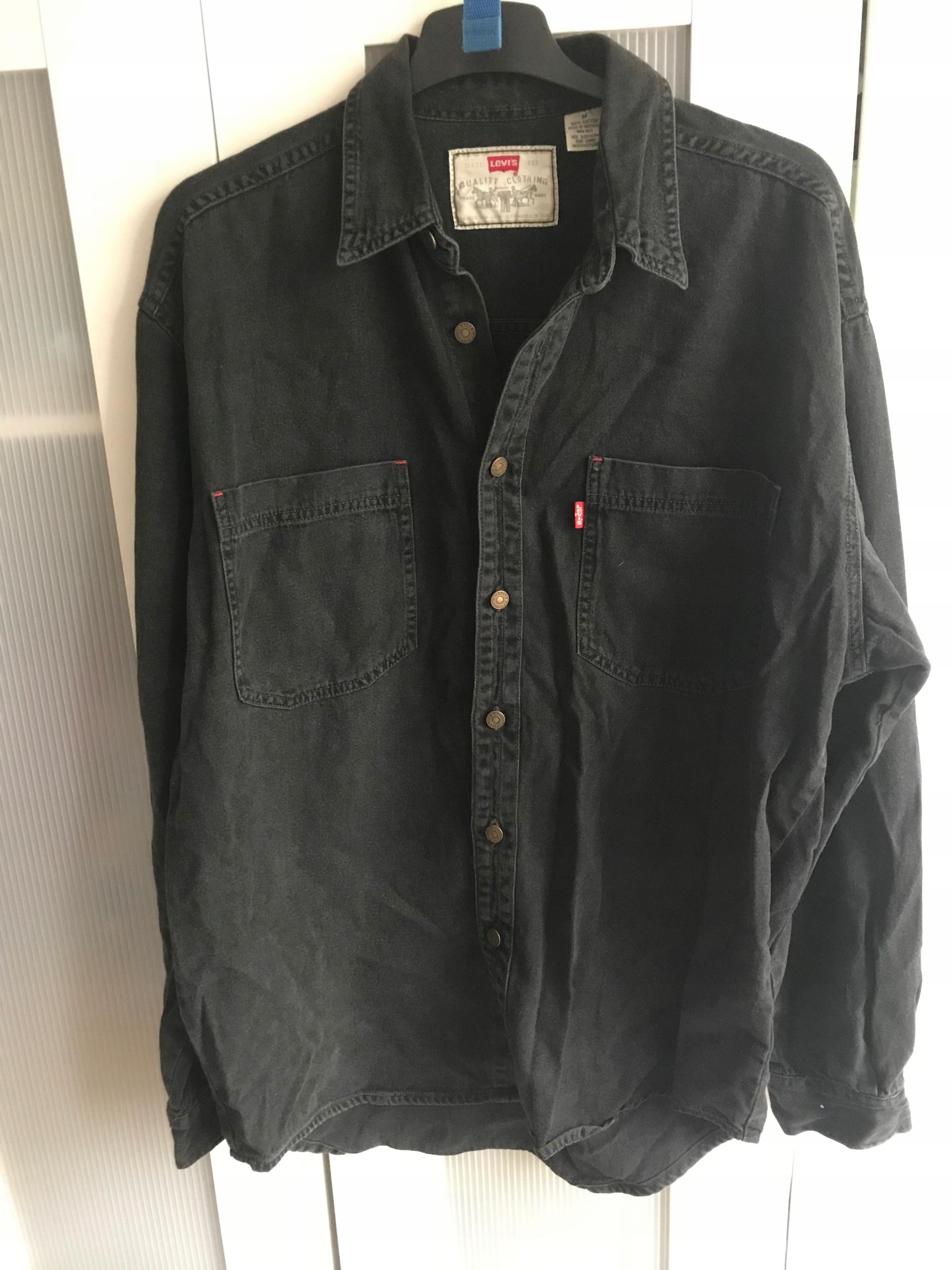 ec95e3c588ca3 Czarna jeansowa koszula levis rozm medium - 7613320579 - oficjalne ...
