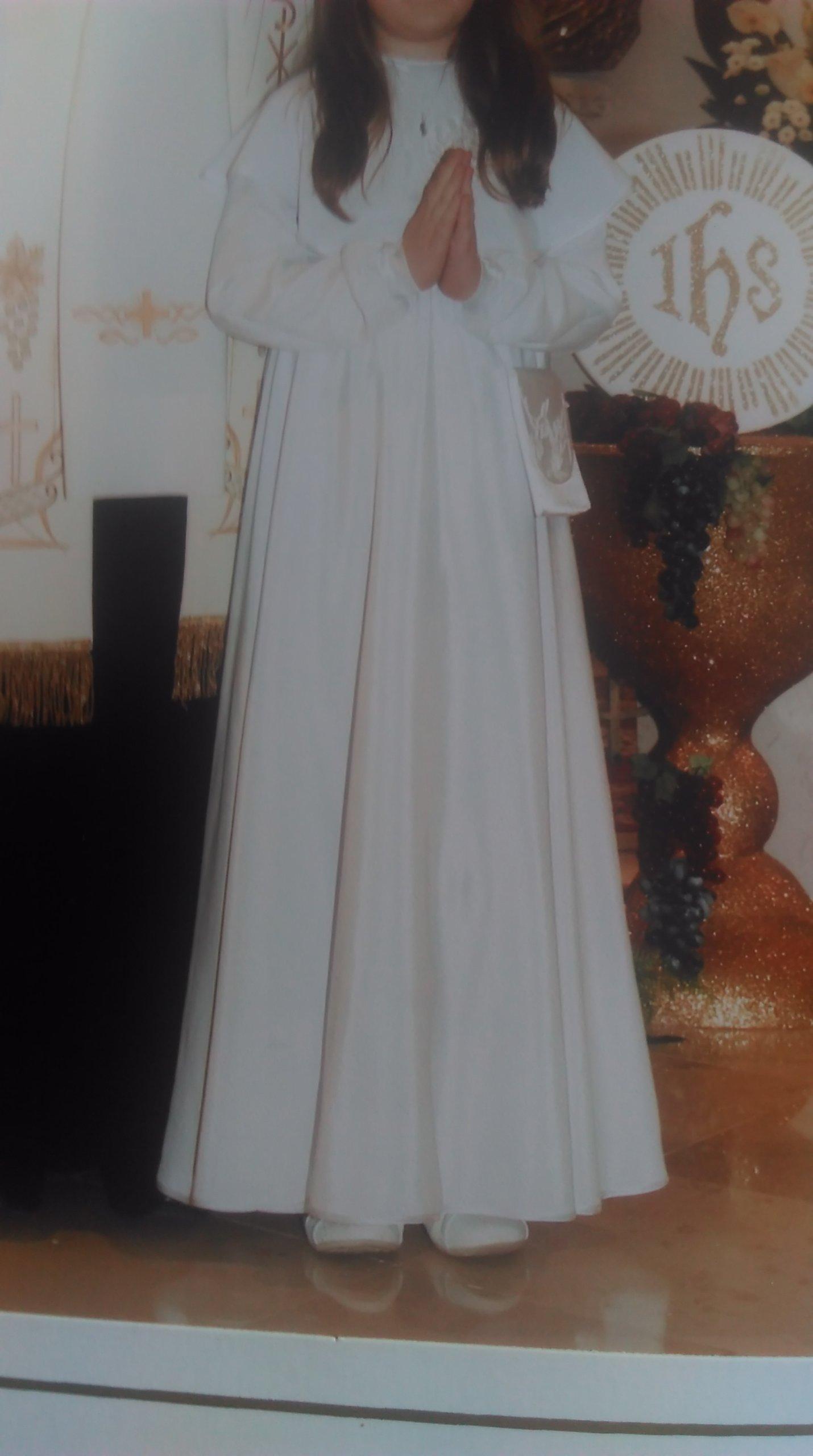 ec68aed41d sukienka komunijna - 7269084107 - oficjalne archiwum allegro