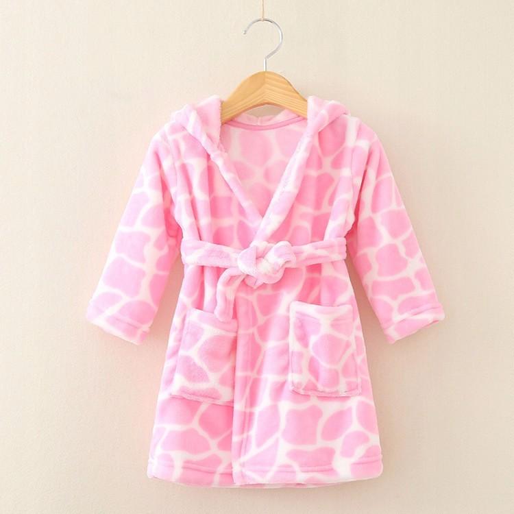 3a77cbffa8e8ae Pluszowy szlafrok dla dzieci piżama 86-92 - 7365614496 - oficjalne ...