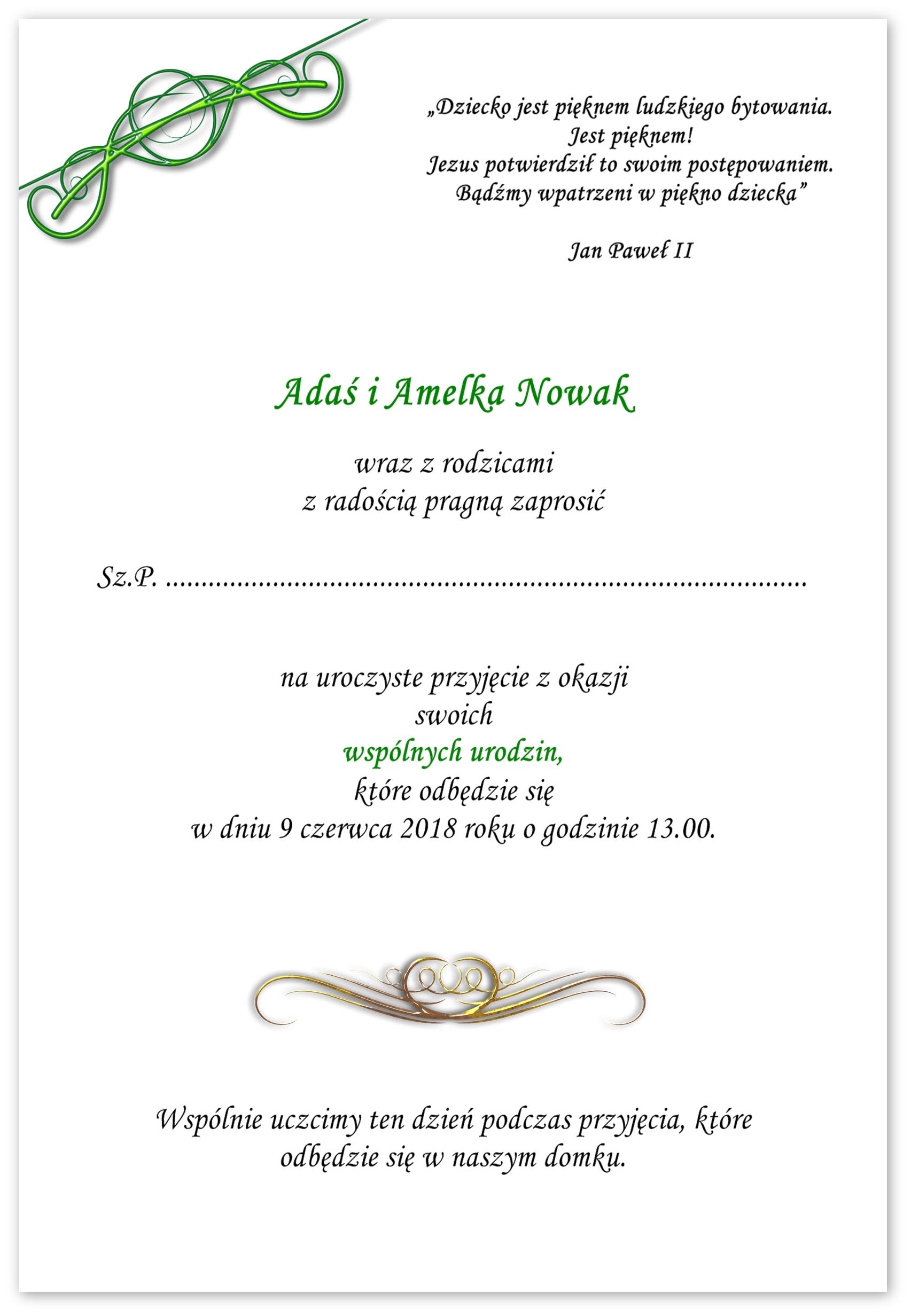 Zaproszenia Na Roczek Foto Urodziny Wspólne Gratis 7330151423
