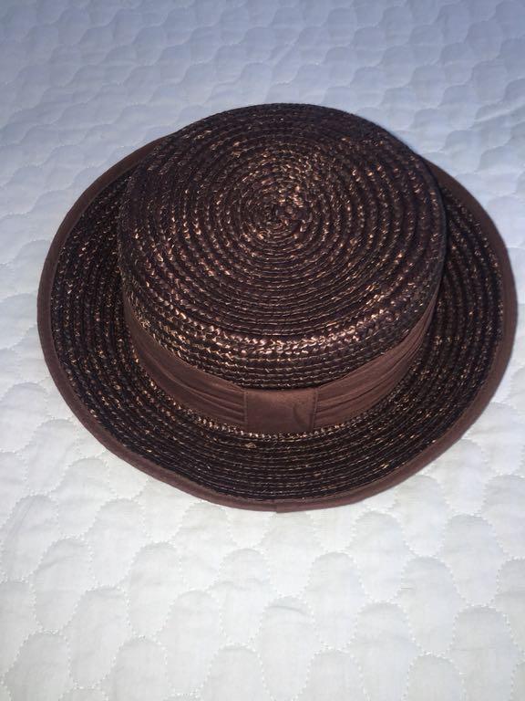 C&A nowy kapelusz klasyczny słomkowy S-L piękn