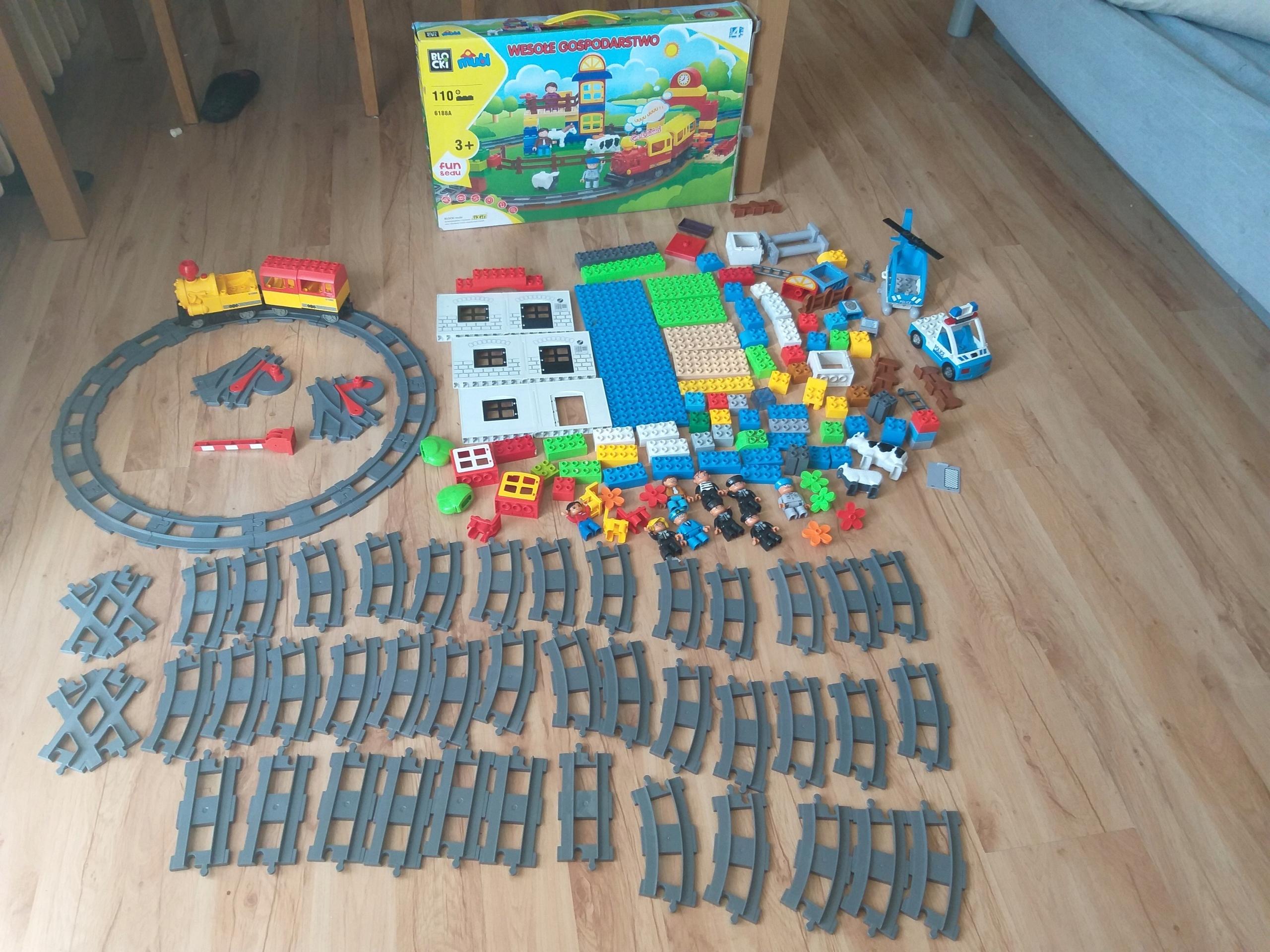 Zestaw Klocki Lego Duplo Oraz Inne Kompatybilne 7588205212