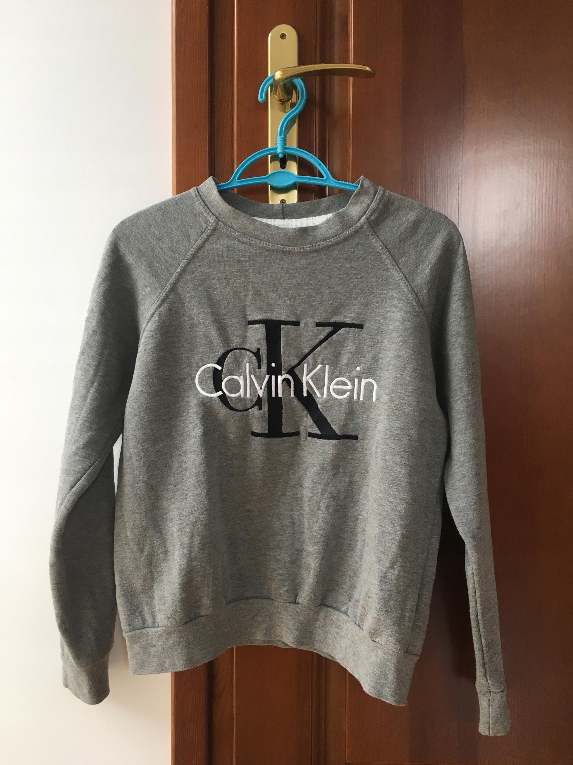 8f5b71045 Bluza Calvin Klein Szara CK Rozmiar S - 7457266557 - oficjalne ...