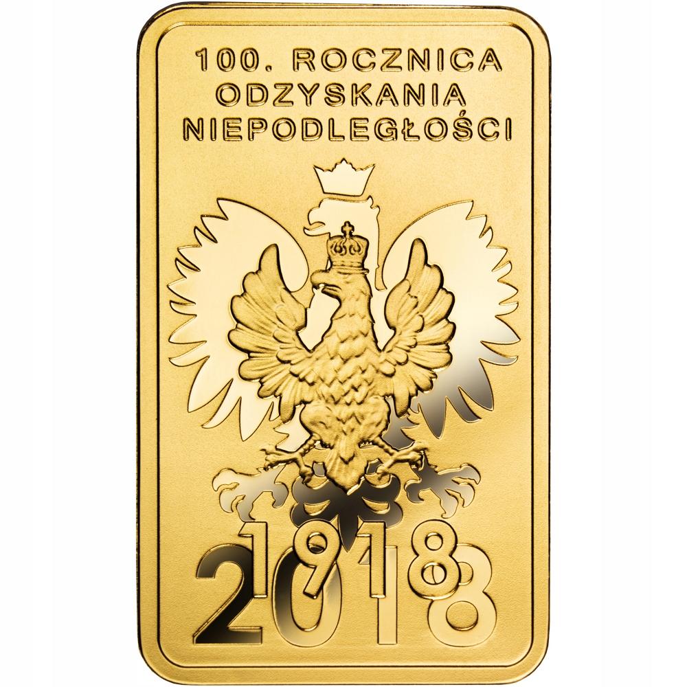 Sztabka Złota - 100g - Niepodległość