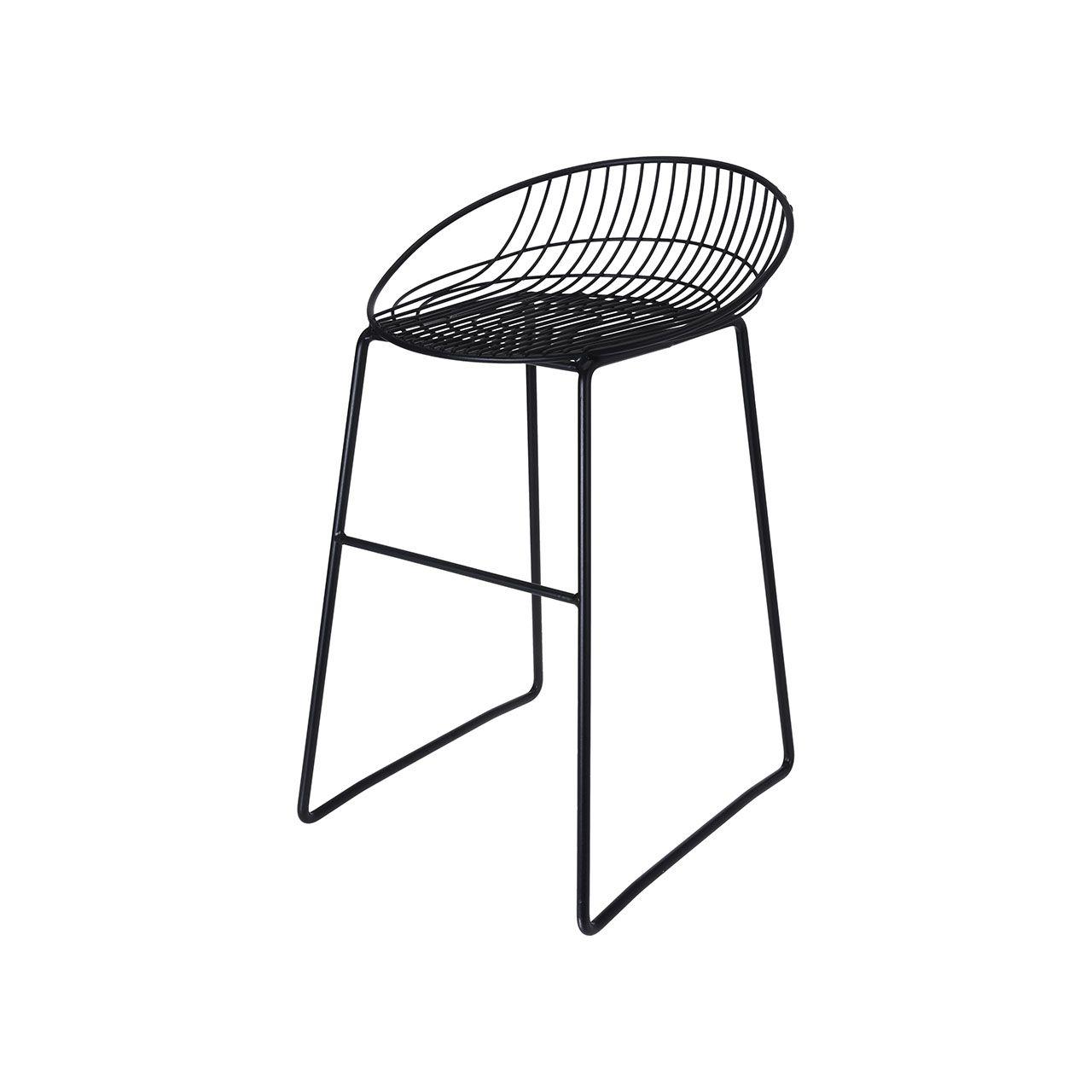 Krzesło Metalowe Taboret Czarny 7251922841 Oficjalne Archiwum