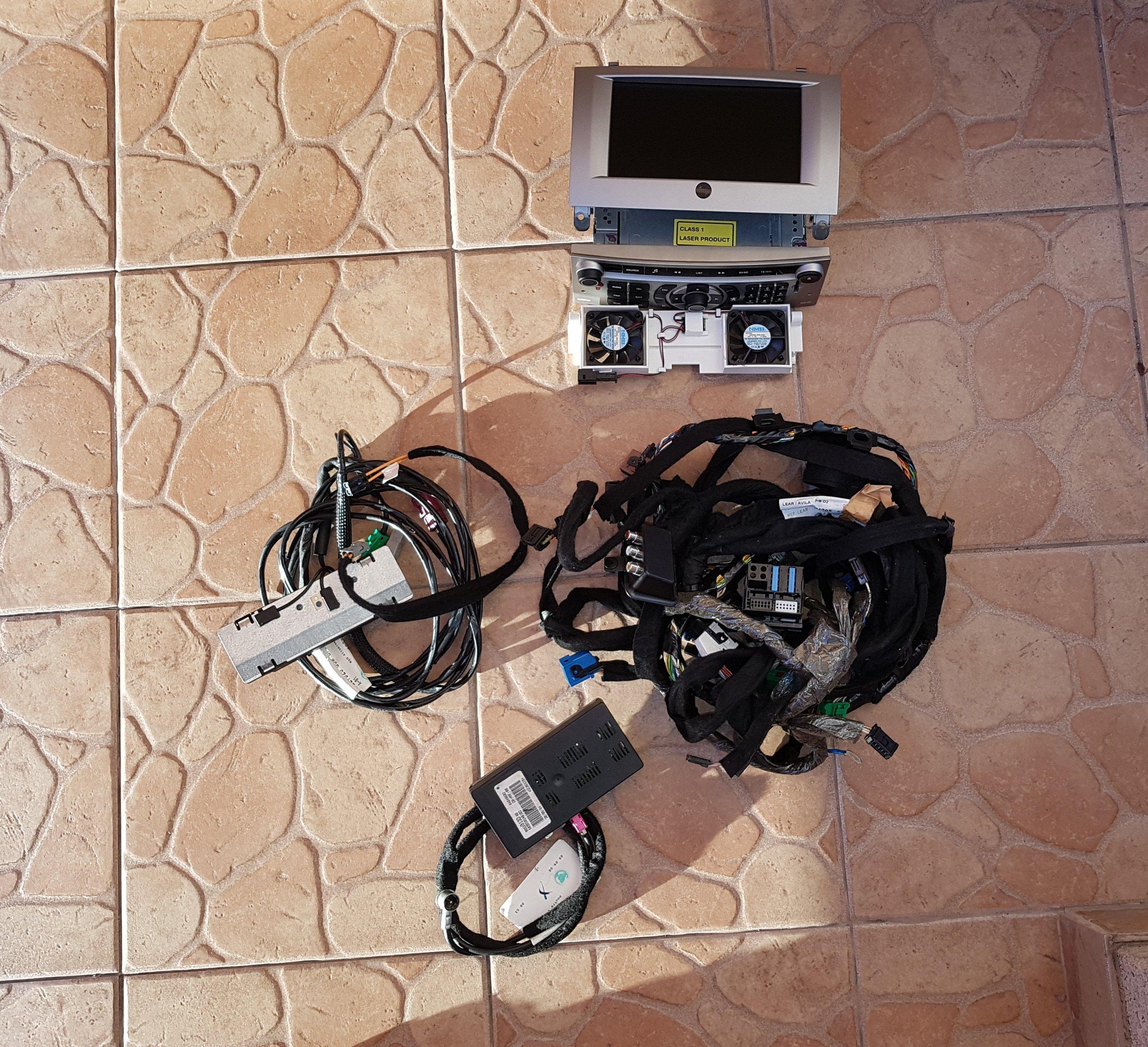 Nawigacja Radio Peugeot 407 Rt3 Zestaw 96632912yw 7277316324 Wiring