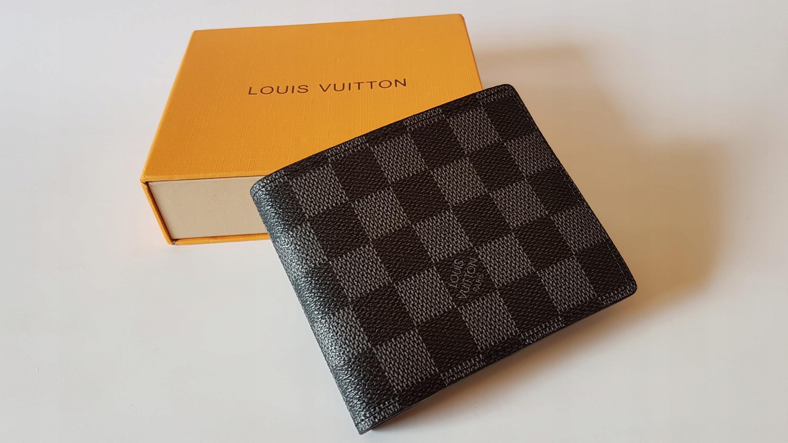c11cb02d02e7e Męski portfel LV Louis Vuitton Czarna Krata #LV - 7623872773 ...