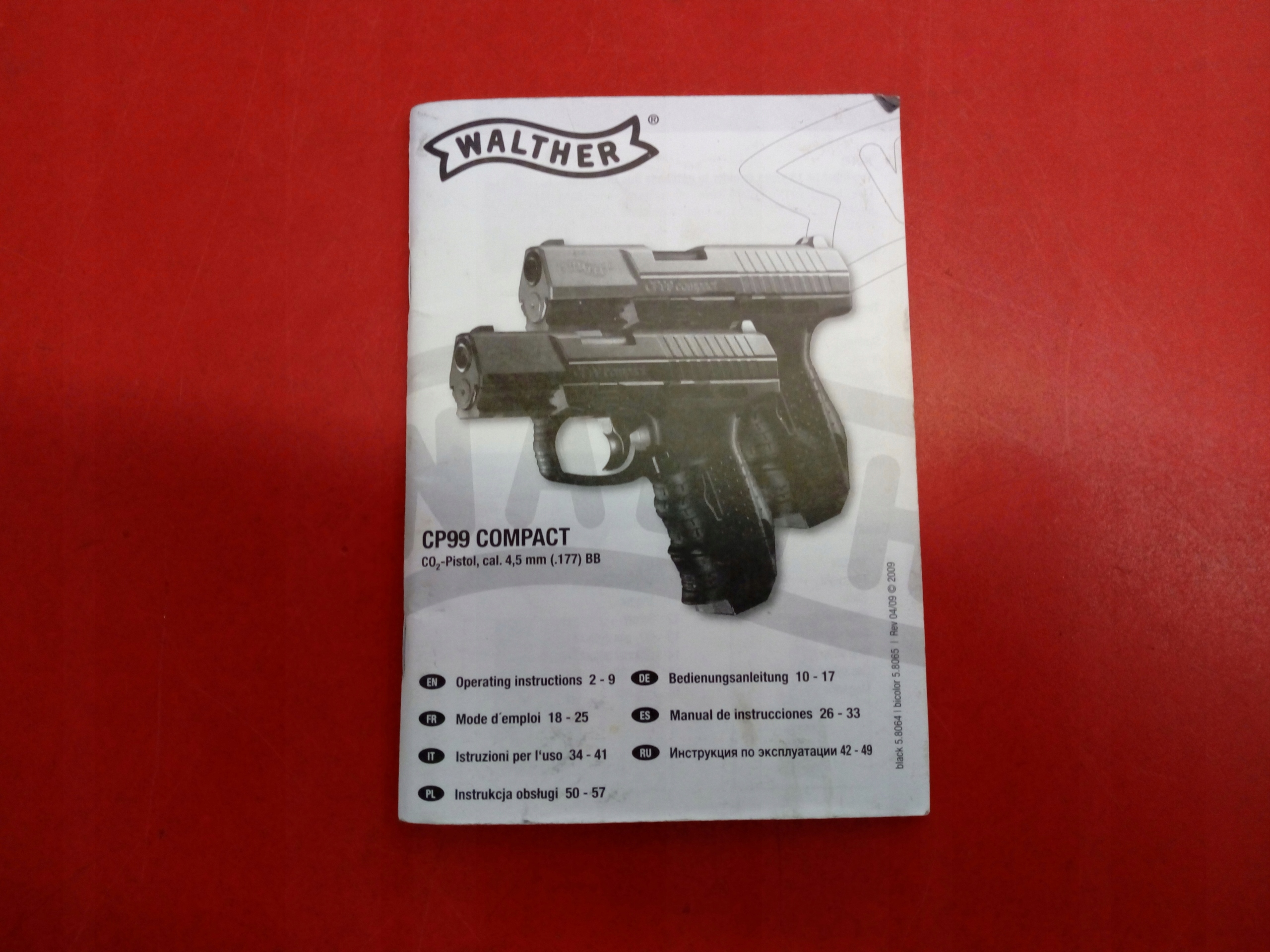 Walther CP99 Compact CO2 BB 4,5mm + 2 magazynki - 7537820262