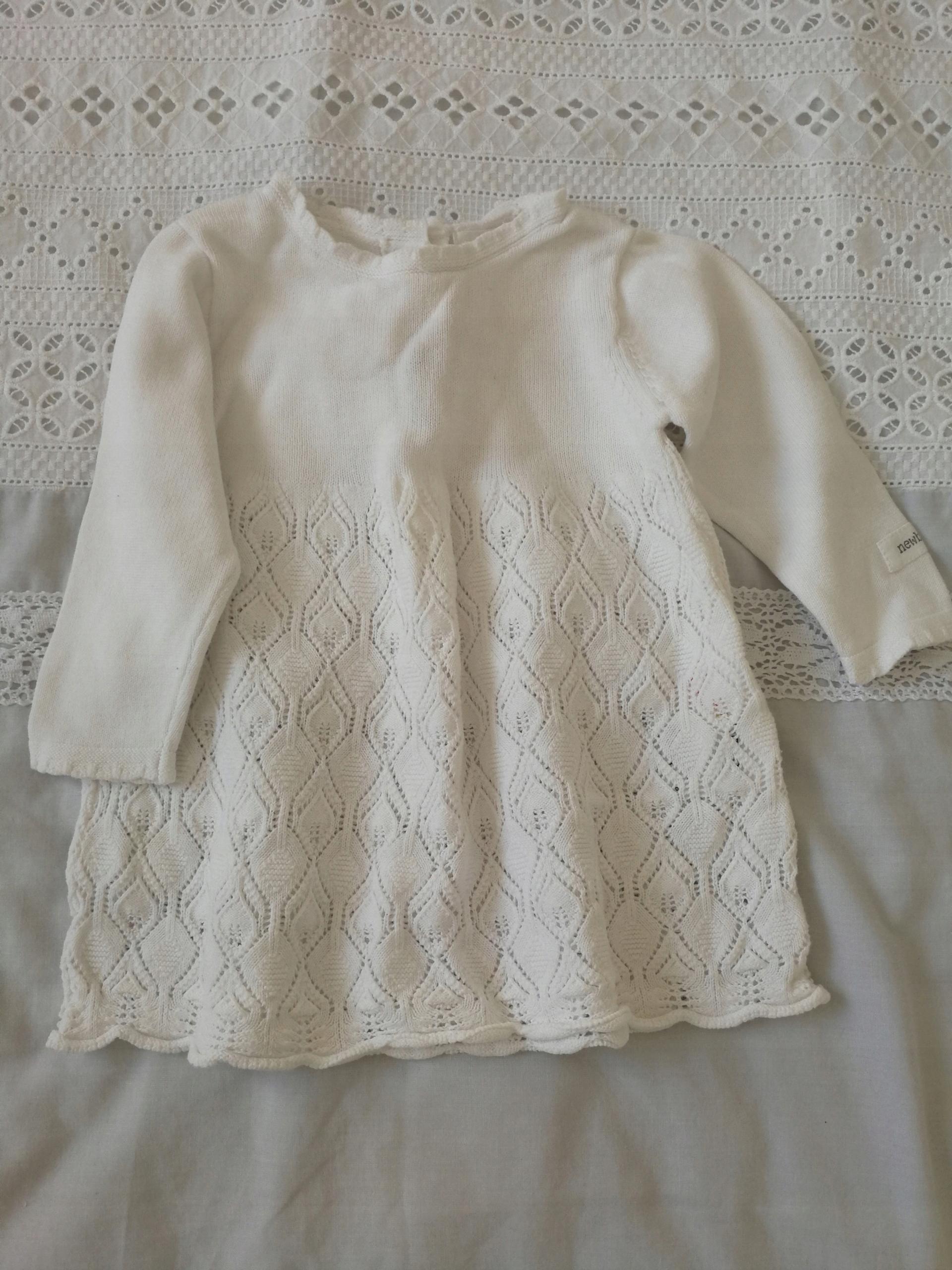 dfdbdd80aa Biała sukienka KappAhl Newbie roz. 62 - 7605640233 - oficjalne ...