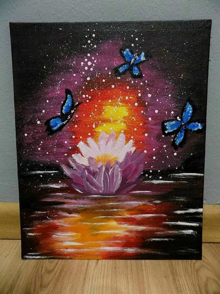 Obraz Malowany Farbami Akrylowymi 24cm X 30cm 7166708051