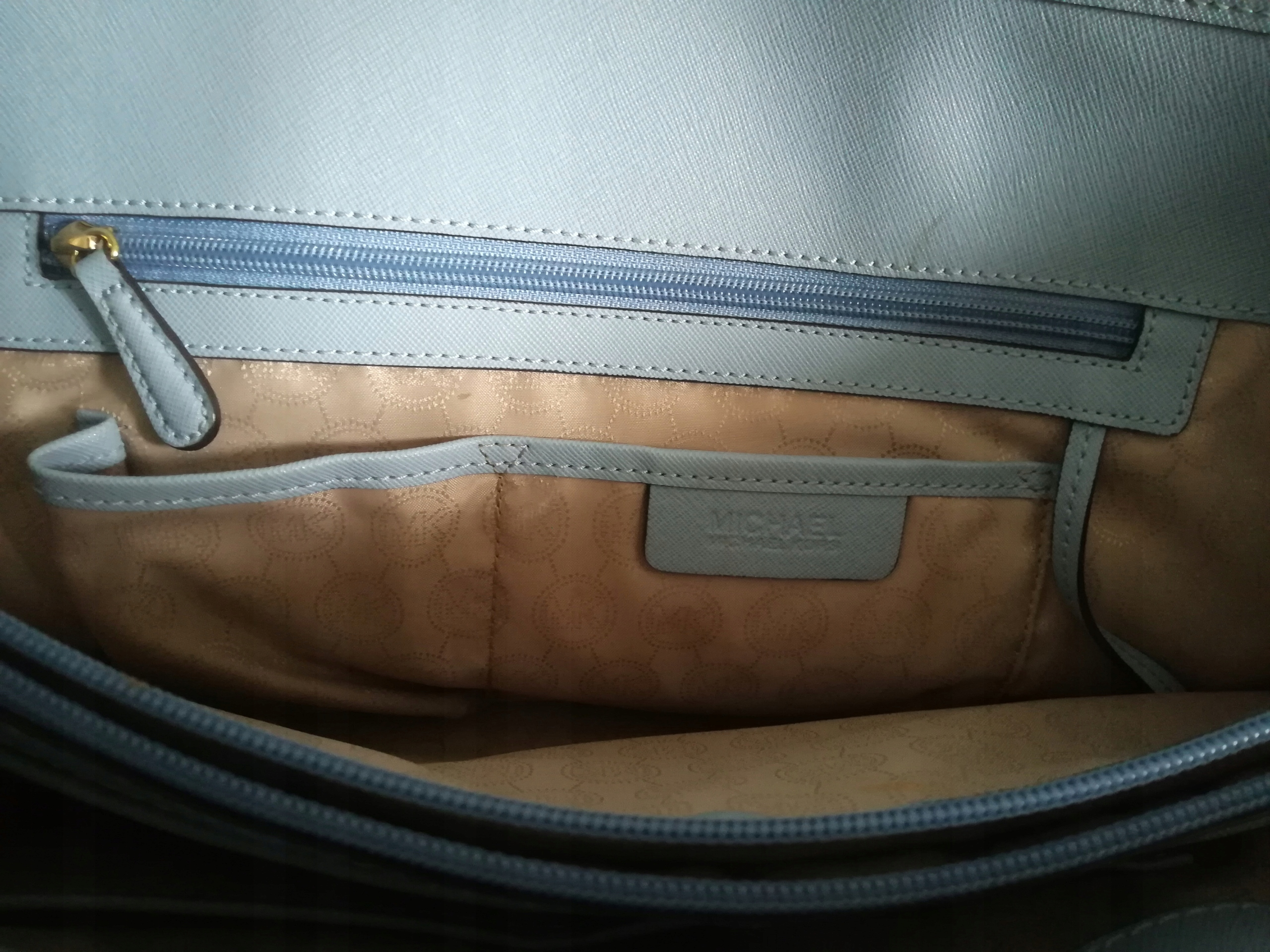 efd77215396b1 Błękitna torba shopper Michael Kors Jet Set travel - 7474106141 ...