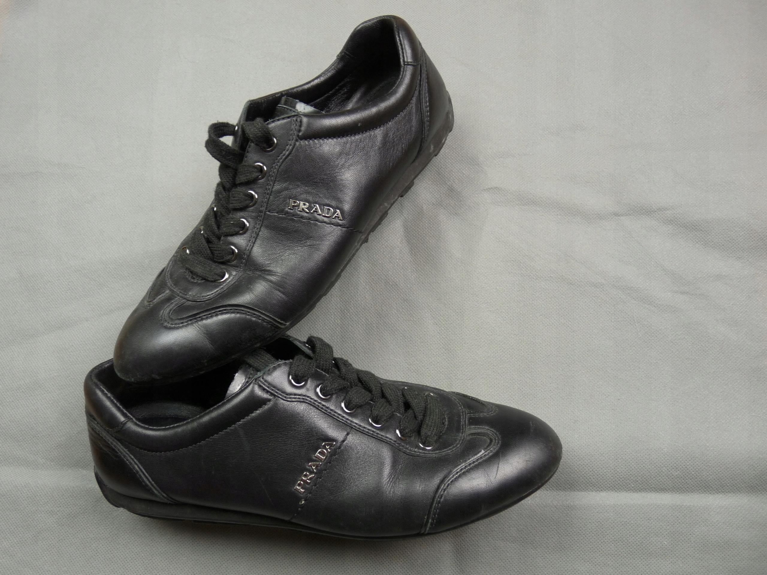 9af87f8b71e65 PRADA czarne damskie skórzane buty rozm.37 - 7587374587 - oficjalne ...