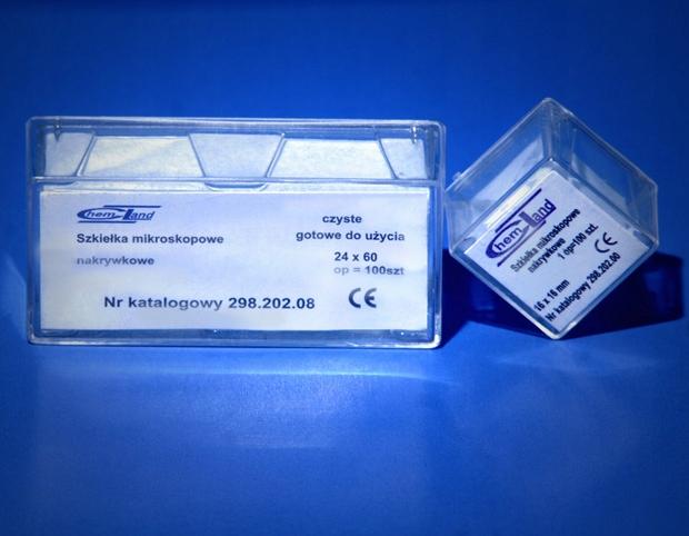 Szkiełka mikroskopowe nakrywkowe 18x18 mm 100 szt.