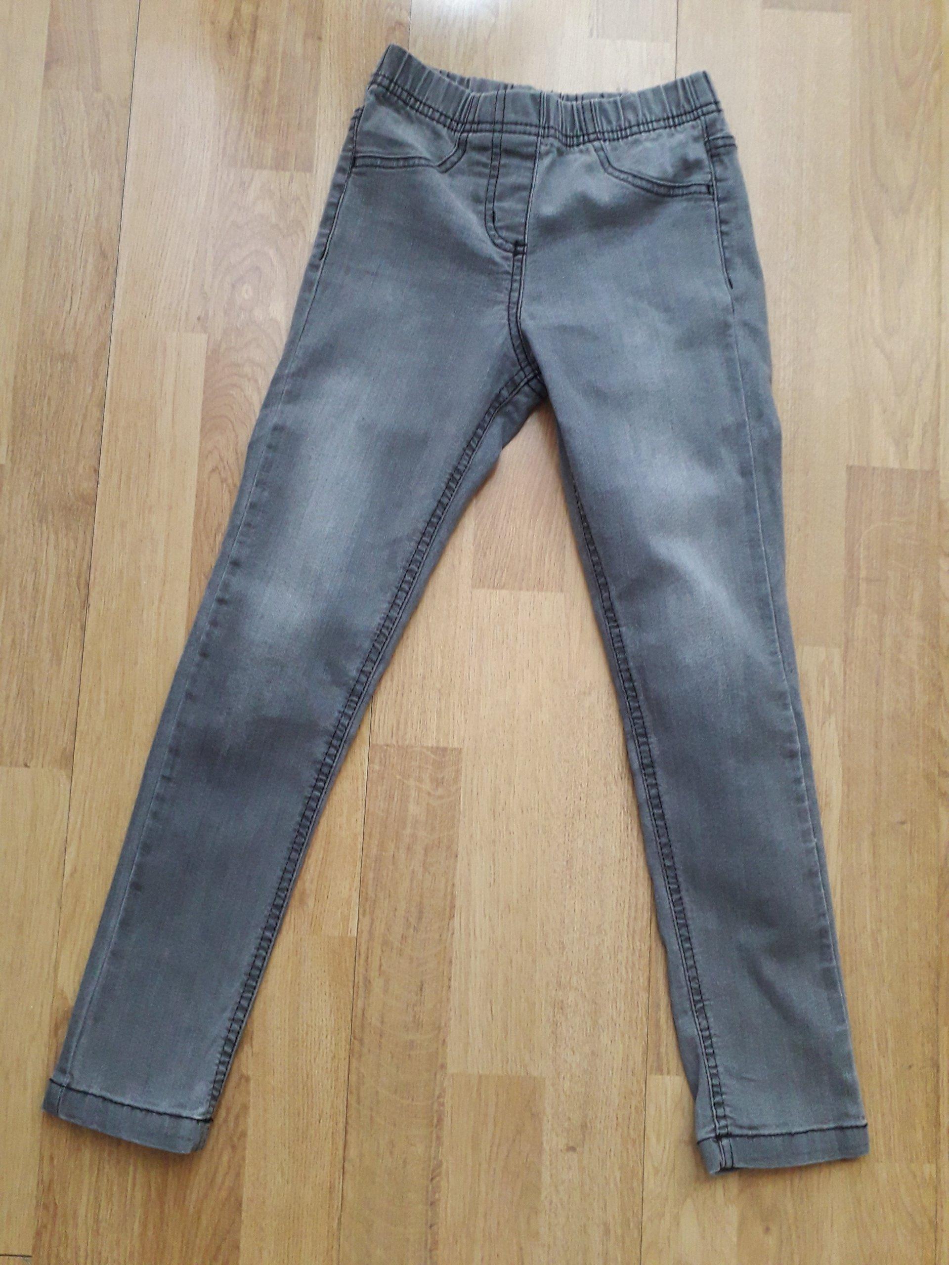 53321d8dfc96 Szare legginsy jeansy dżinsy rurki 128 134 - 7401016488 - oficjalne ...