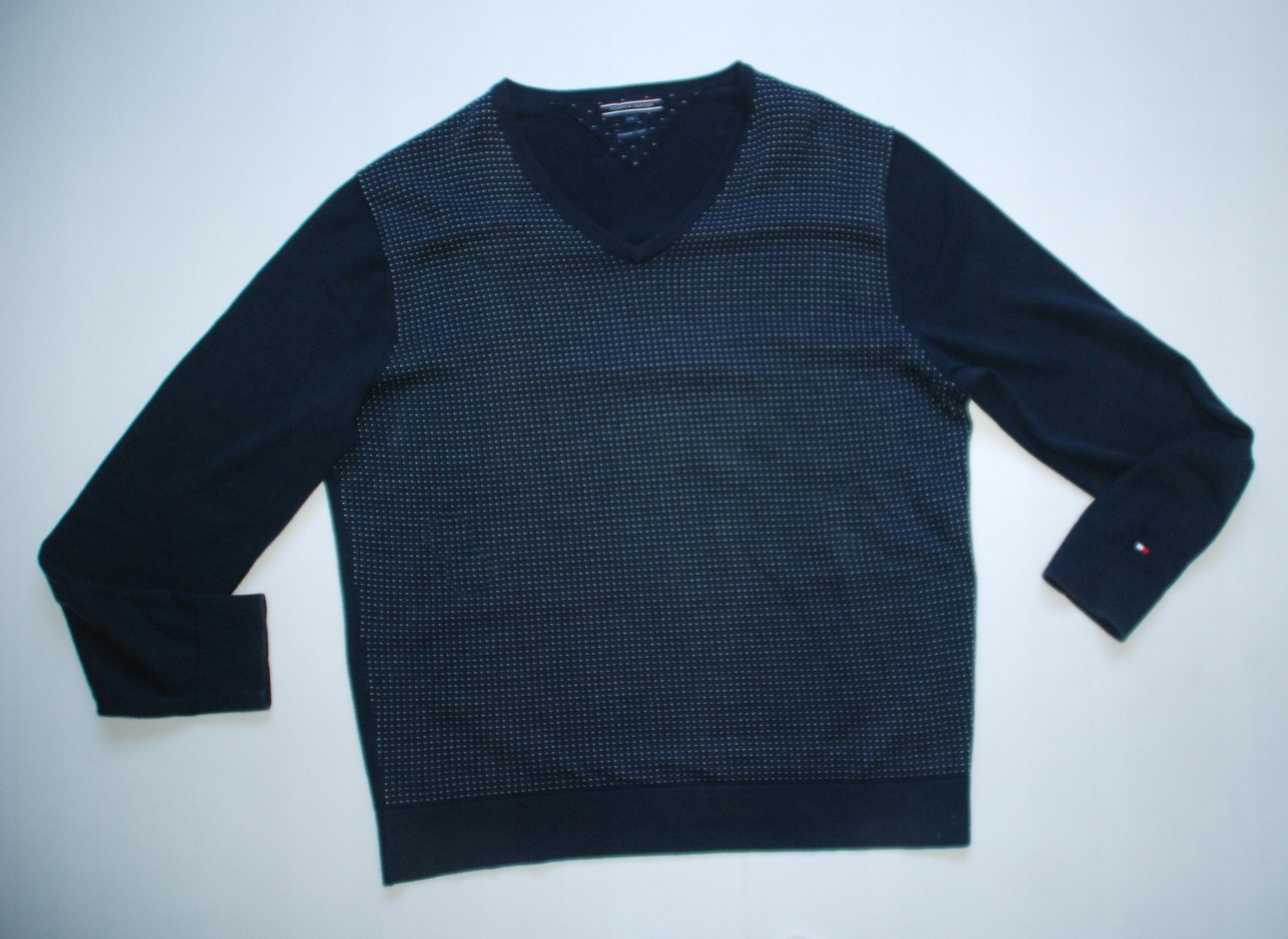 5c06f0769 Tommy Hilfiger XXL Premium Cotton sweter - 7683601469 - oficjalne archiwum  allegro