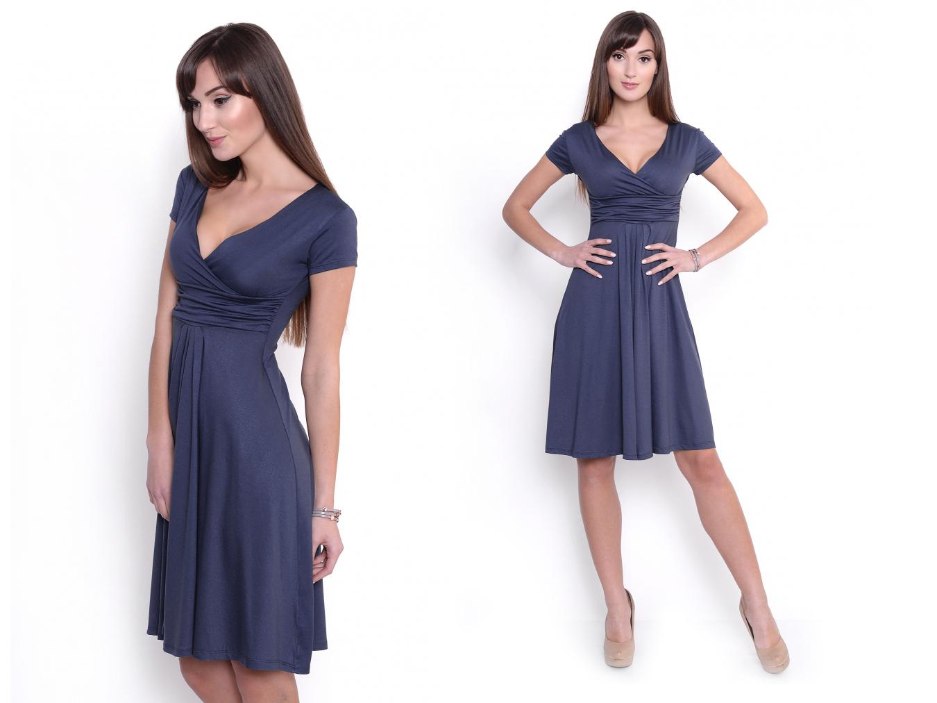 b729396d03 Cudowna Sukienka Kopertowa Graf 18416 S M - 7188478134 - oficjalne ...
