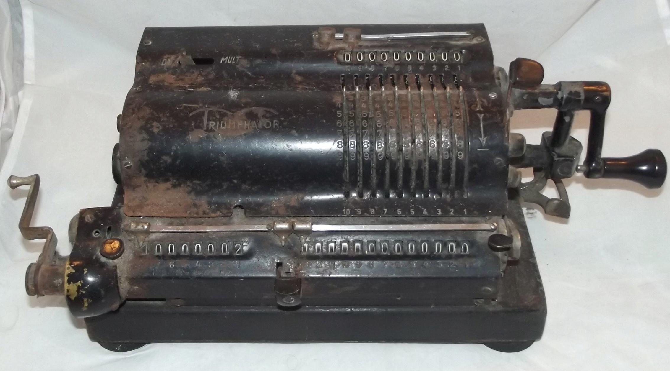 Wybitny Maszyna do liczenia TRIUMPHATOR - 7691832691 - oficjalne archiwum EV37
