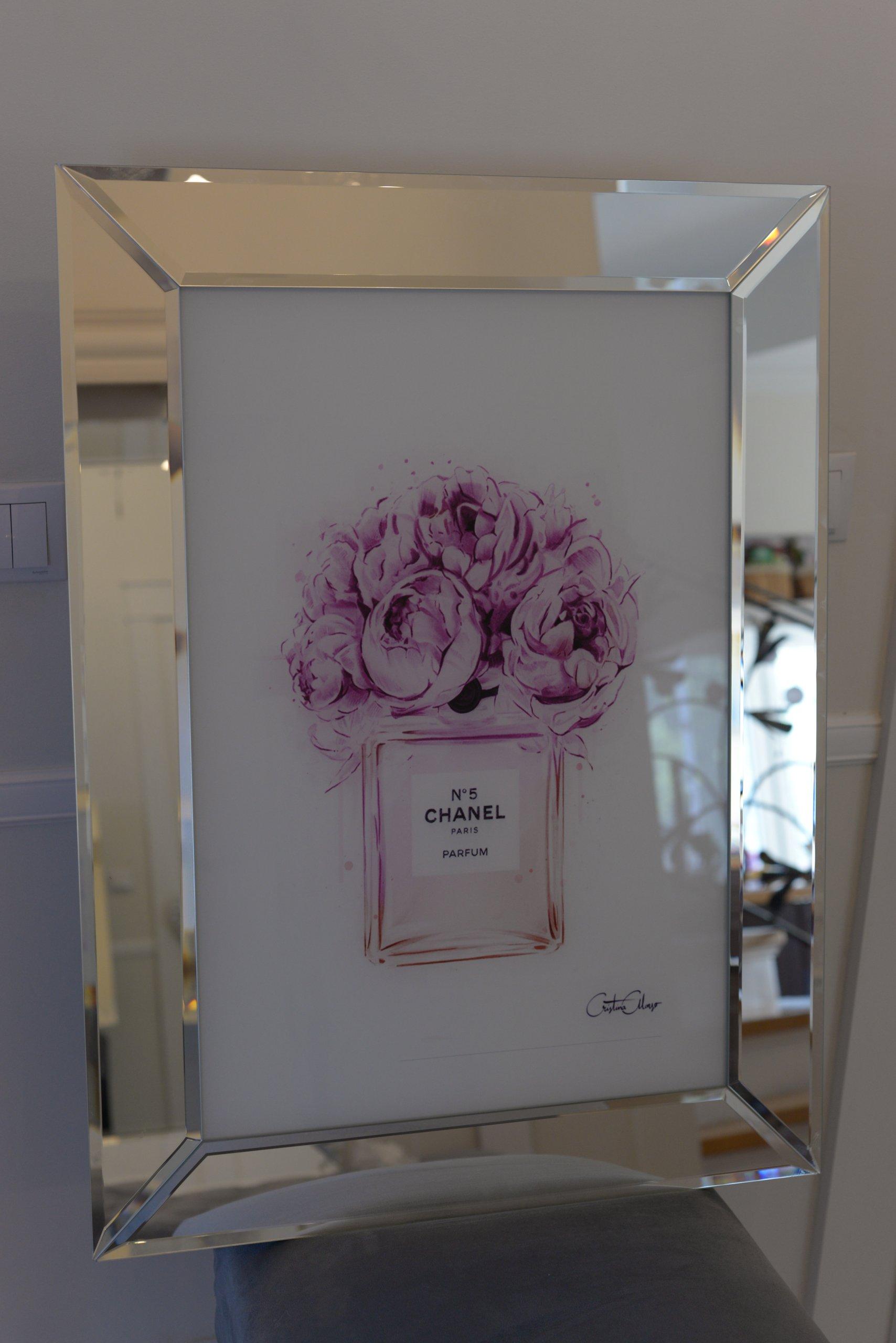 Obraz Chanel W Lustrzanej Ramie 76x56 7331287630 Oficjalne