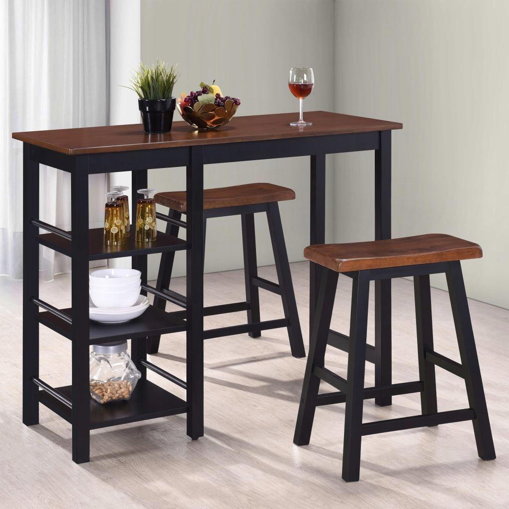 Stolik Barowy Zestaw Hokery Stół Krzesła Kuchnia