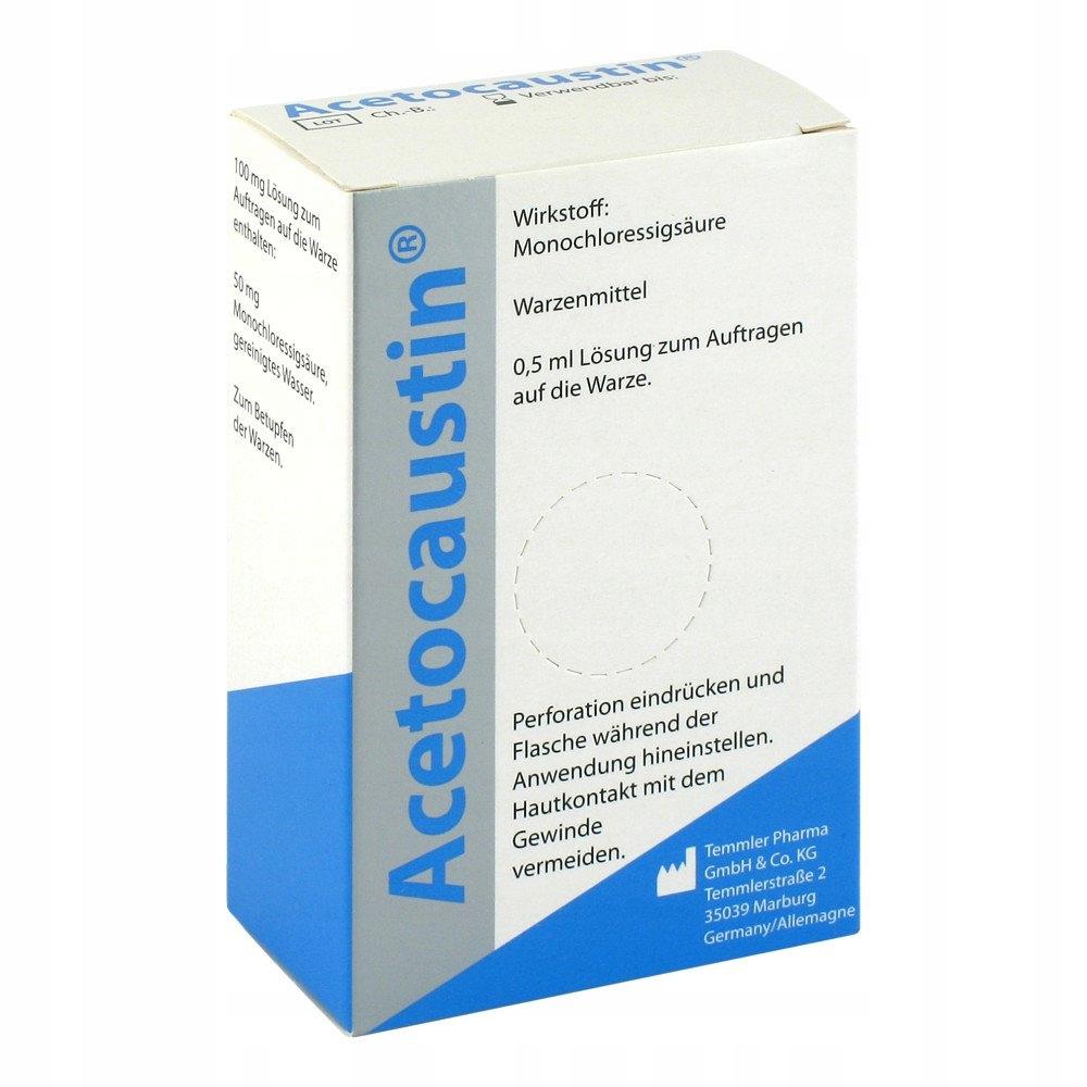 Acetocaustin likwidacja brodawek 0.5 ml