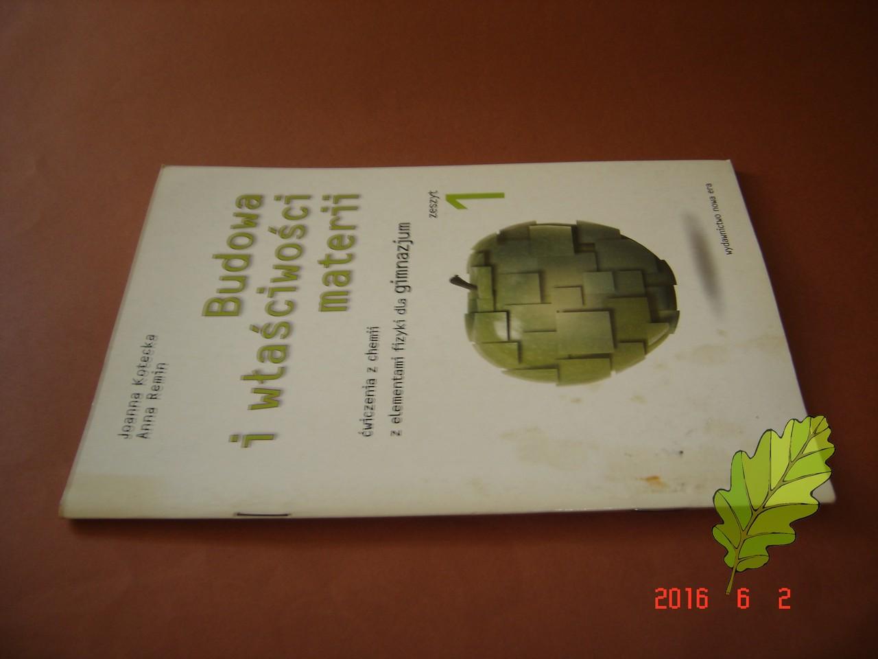Budowa I Wlasciwosci Materii Cwiczenia Kotecka 6968362498