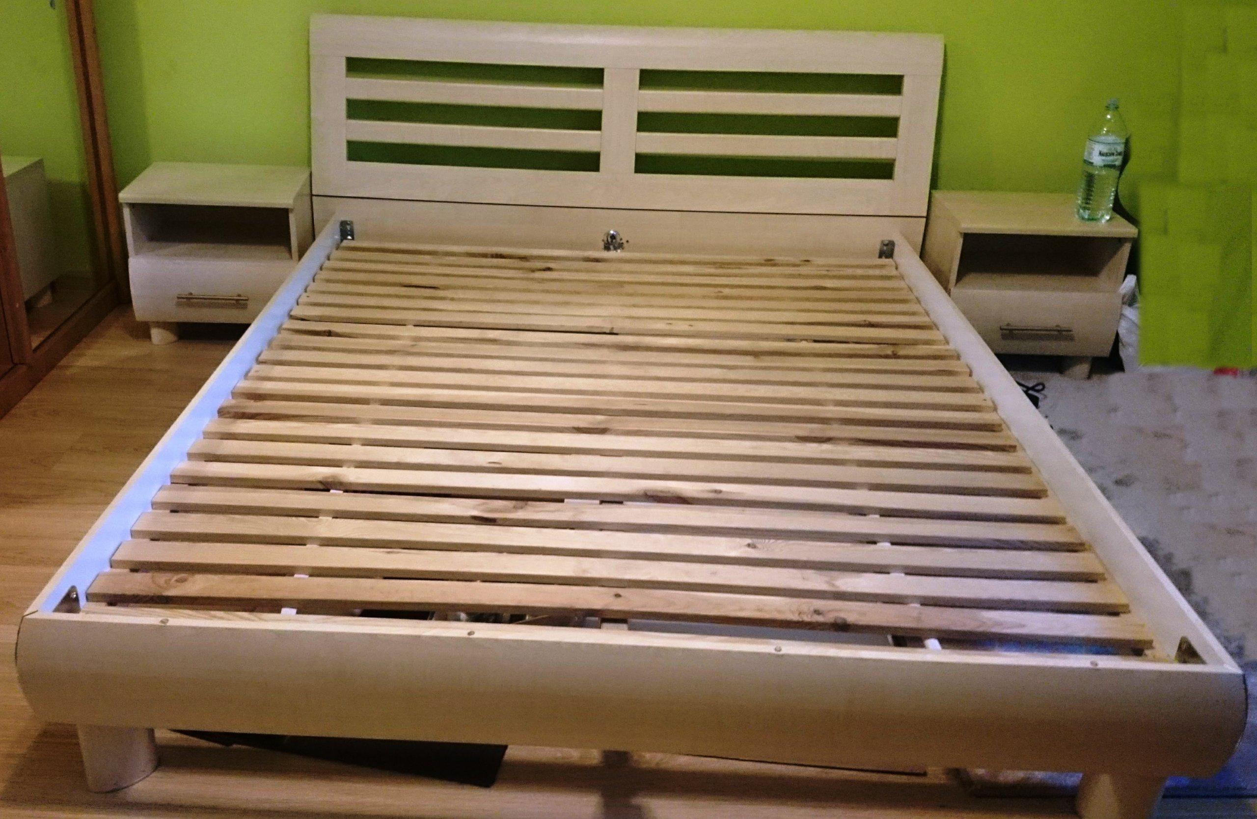 łóżko Brw 160x200 Drewniany Stelaż 2 Szafki 7236273503