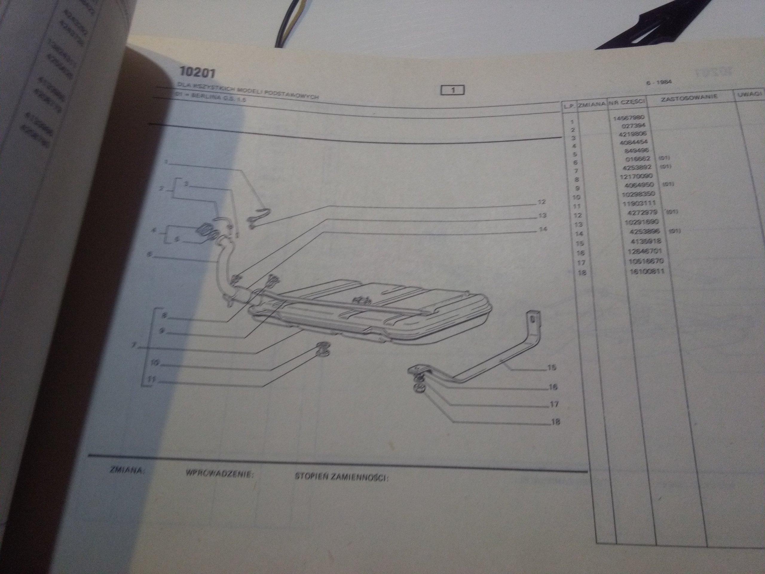 katalog części zamiennych fiat 125p fso aneks - 7017401336