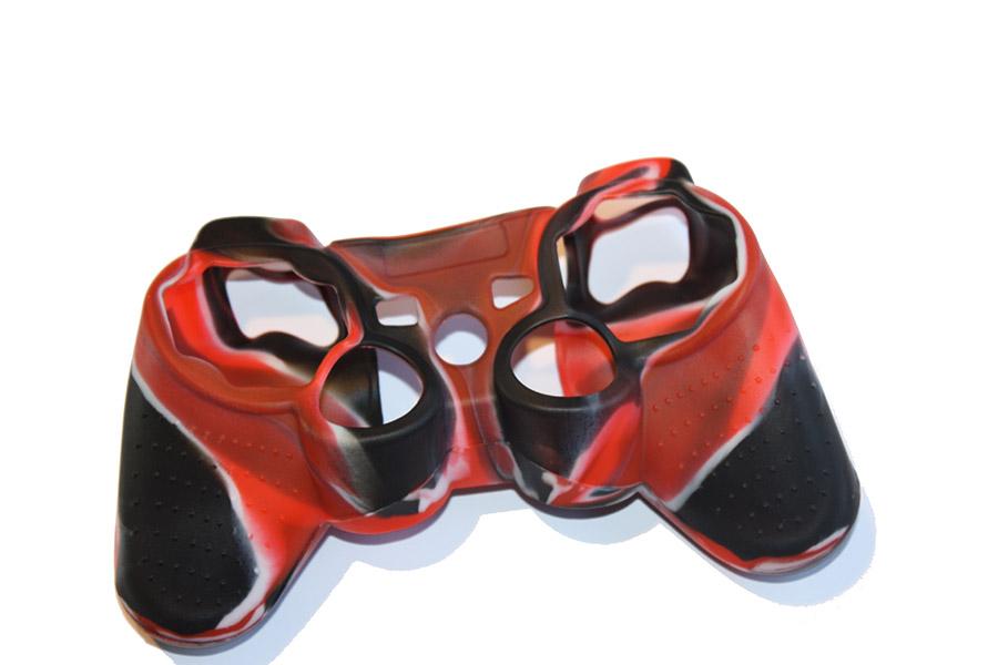 Etui silikonowe silikon na pada PS3 moro czerwone