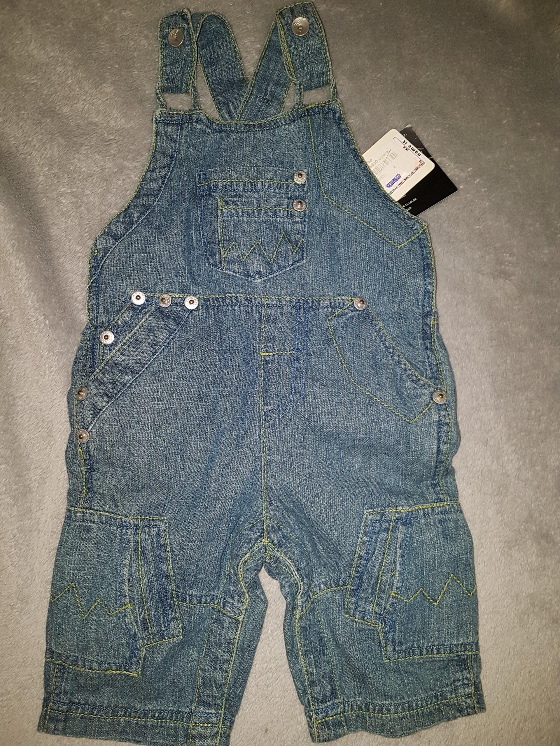 aa9162bb3e695e Nowe jeansowe ogrodniczki 0-3m 56cm name it - 7295870456 - oficjalne ...
