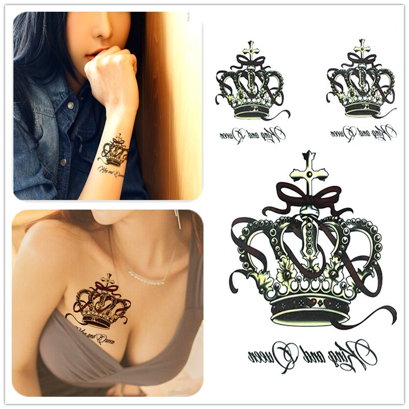 Tatuaz Zmywalny 3d King And Queen 6982775749 Oficjalne