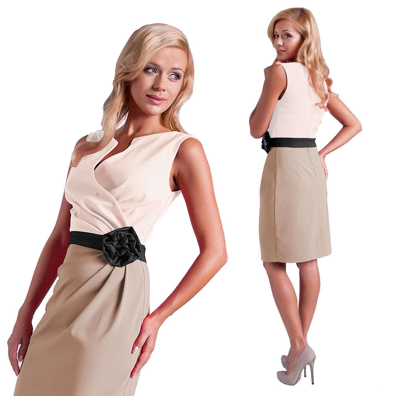 7a826dd49a Sukienka Z Różą Na Wesele Komunie R 46 - 7368258267 - oficjalne ...