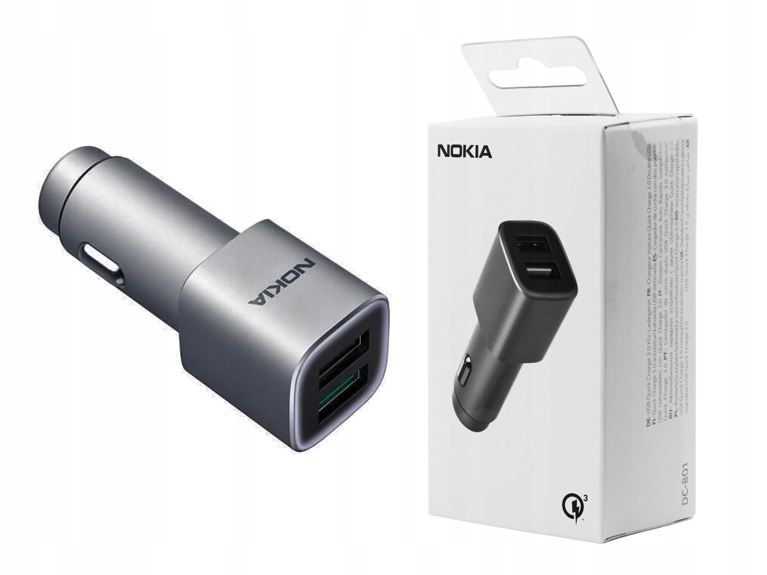 Oryg Ładowarka samochodowa Nokia QC 3.0 do Nokia 2