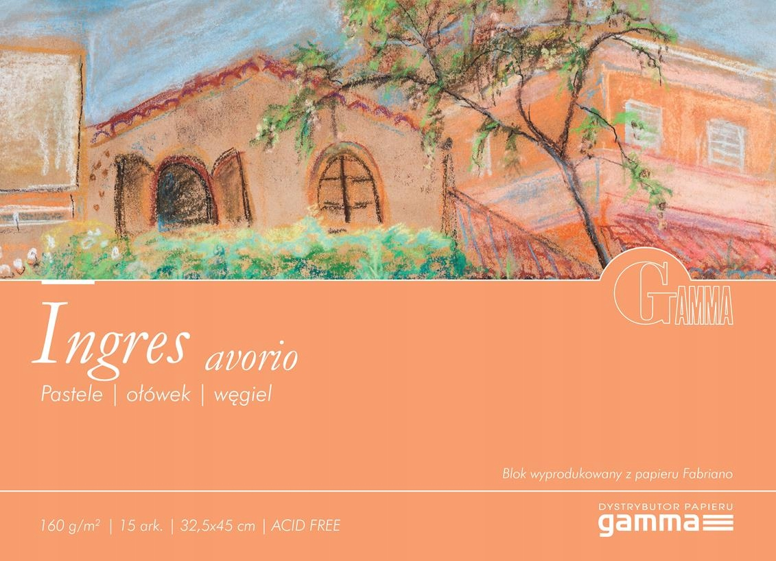 GAMMA Ingres Avorio Blok do pasteli 160g 32,5x45