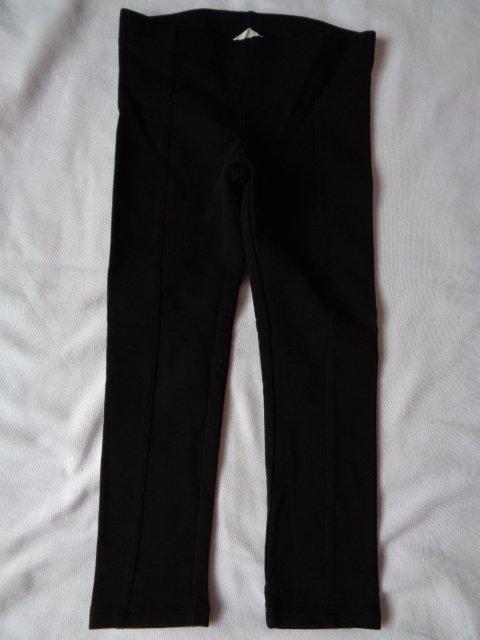 H&M czarne elastyczne spodnie legginsy getry 7343422321