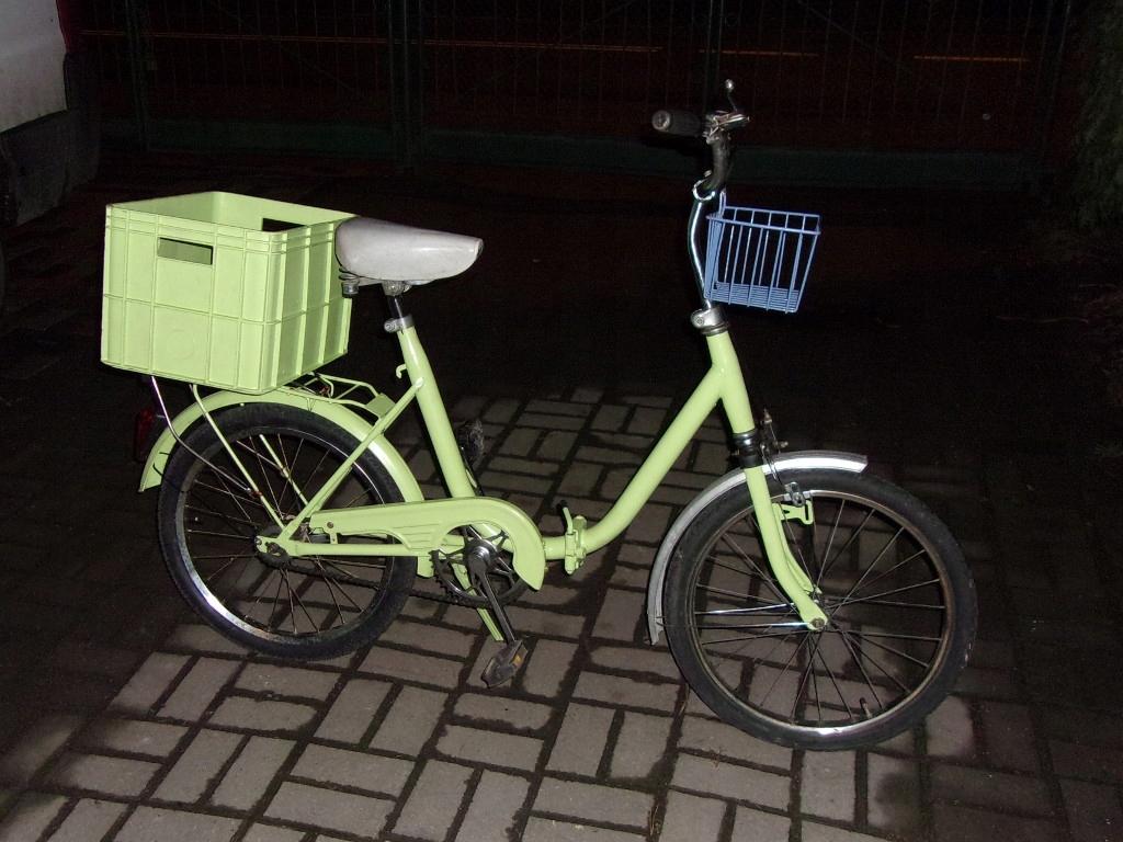 Rower składak (koła 20 cali) MIĘTOWY - RETRO