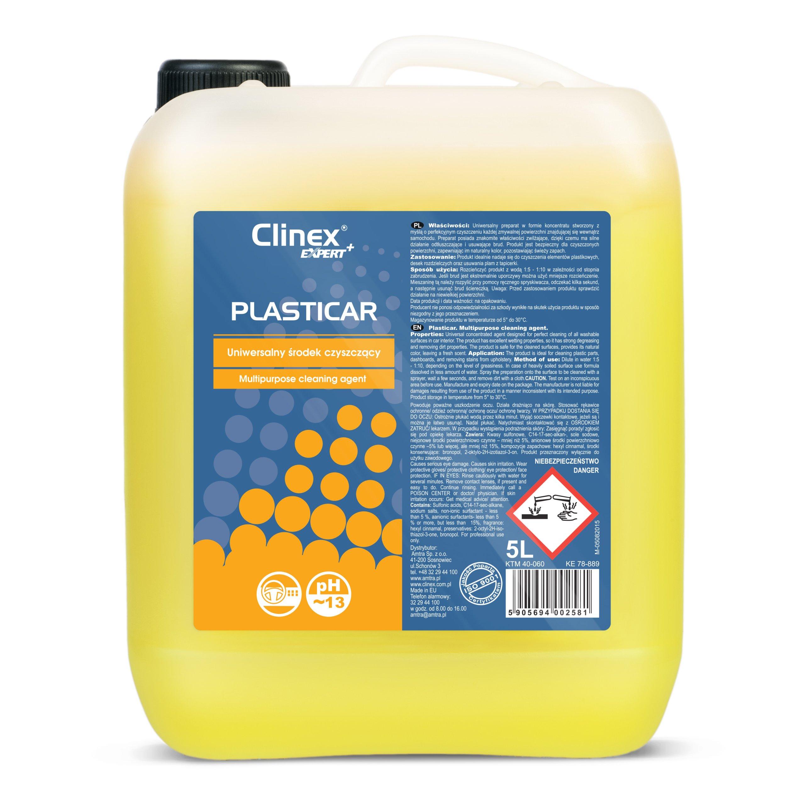 PLASTICAR środek czyszczący wnętrze samochodu 5L