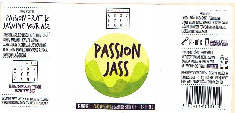 Br. ABSZTYFIKANT Passion Jass- używane