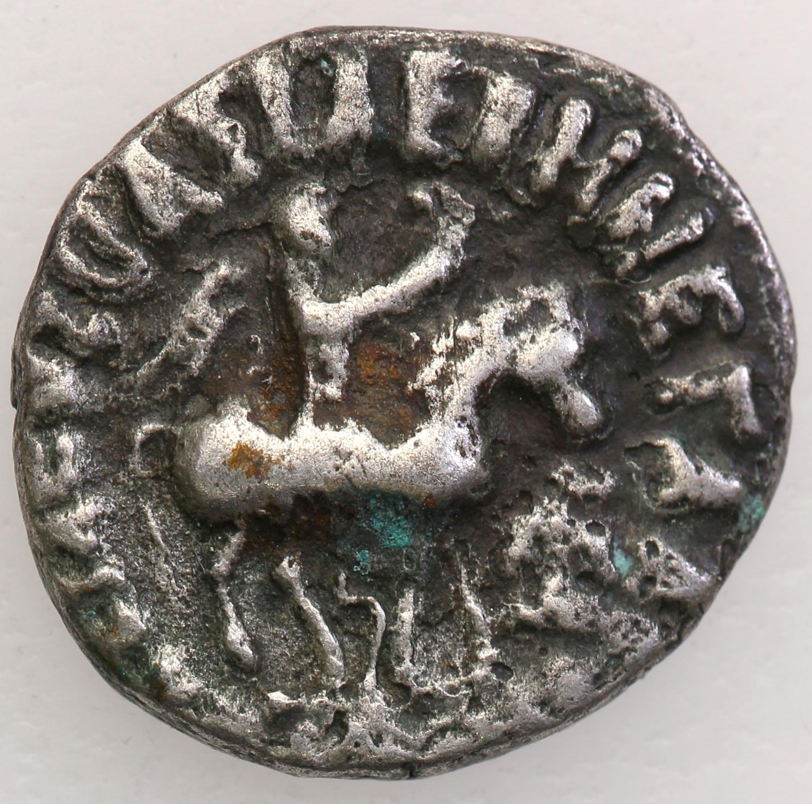 Scytowie (Pakistan) Azes II I w n e drachma st. 3