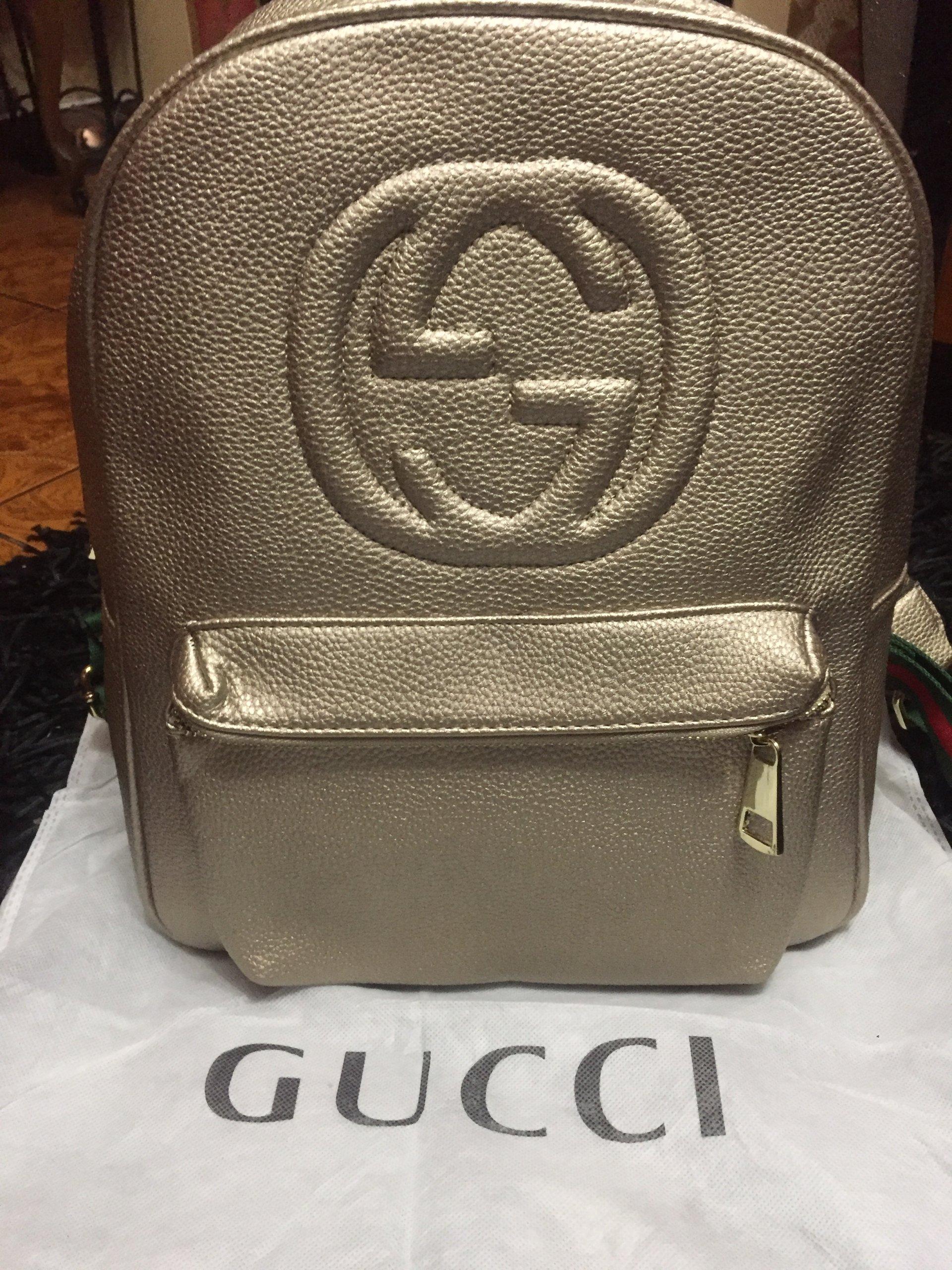 7450643b9c201 Plecak Gucci, torba, torebka, złota - 7244188844 - oficjalne ...