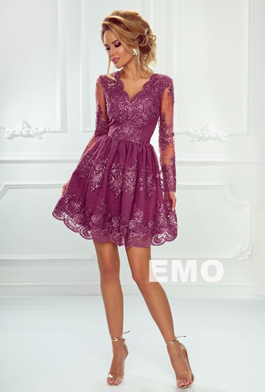 7e202c4396 Sukienka Amelia koronkowa rozkloszowana koronka - 7085407128 ...