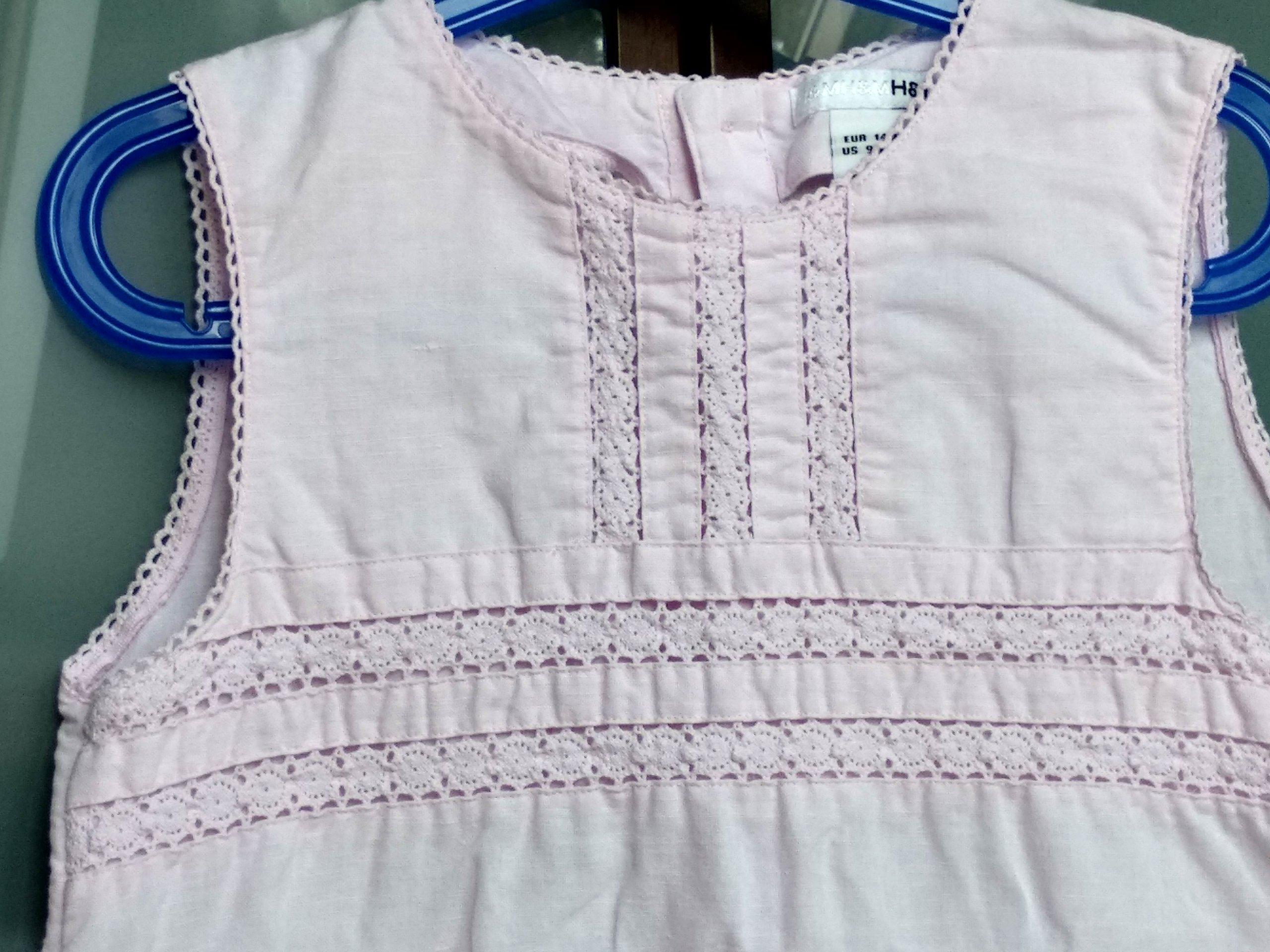 7bce7c4c4b Lniana sukienka dla dziewczynki H M 134-140 - 7413251977 - oficjalne ...