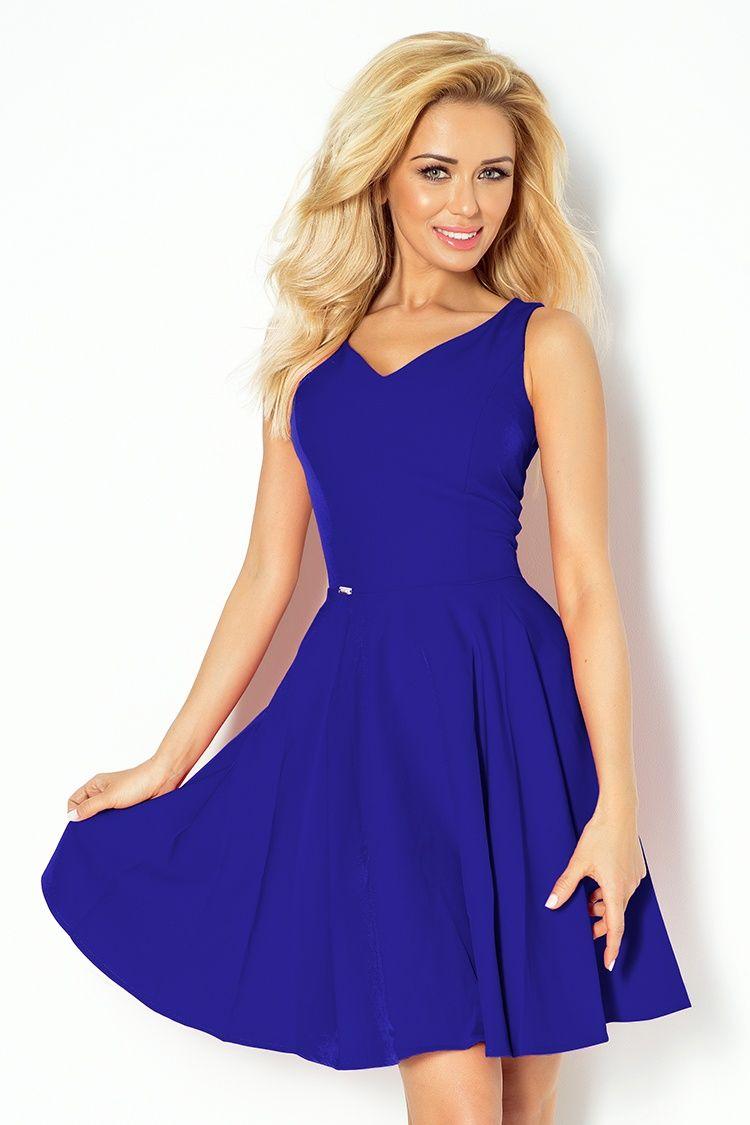 ac0e6c1c40 Numoco sukienka koktajlowa dekolt serce chaber M - 6875940175 ...