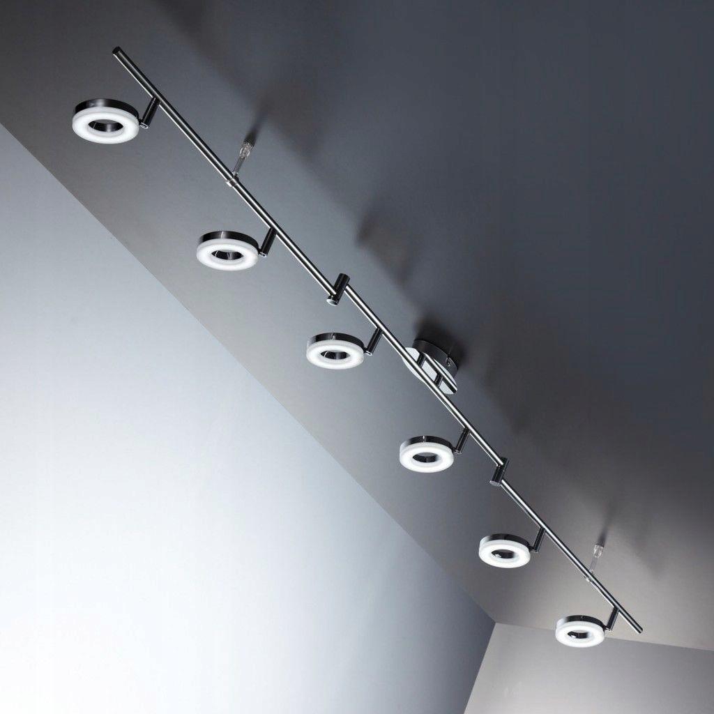 Lampy Sufitowe Led Chrome Salon Sufitowe świat