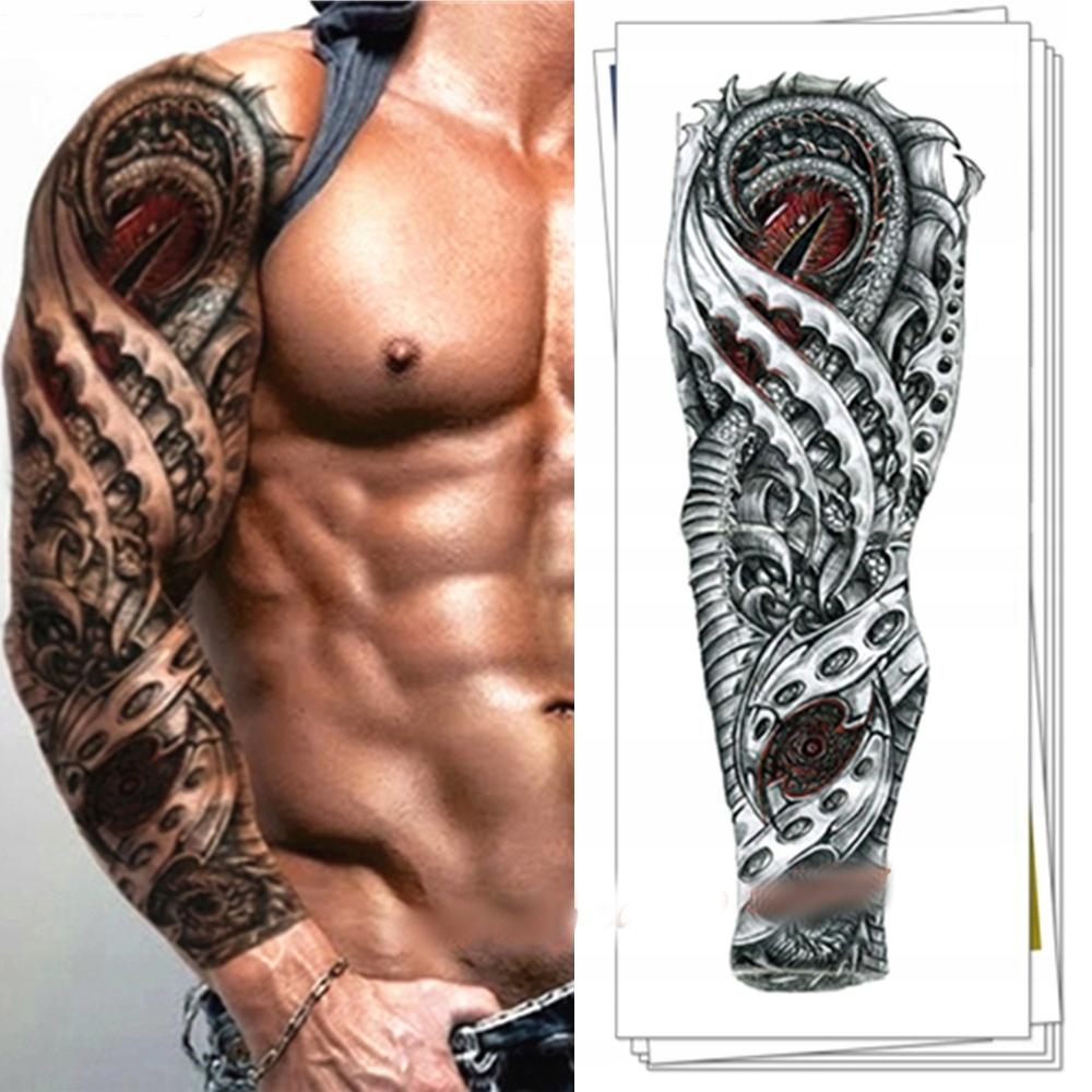Tatuaż Tatuaże Rękaw Naklejka Zmywalny Tymczasowy