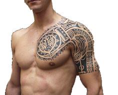 Tatuaż Klatka Chest I Ramię Duży Aztek Wojtek Ws