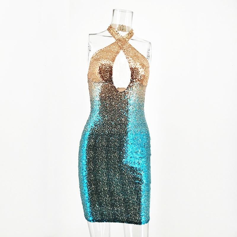 51842846ba Dopasowana sukienka cekiny na sylwestra imprezę S - 6989847979 ...