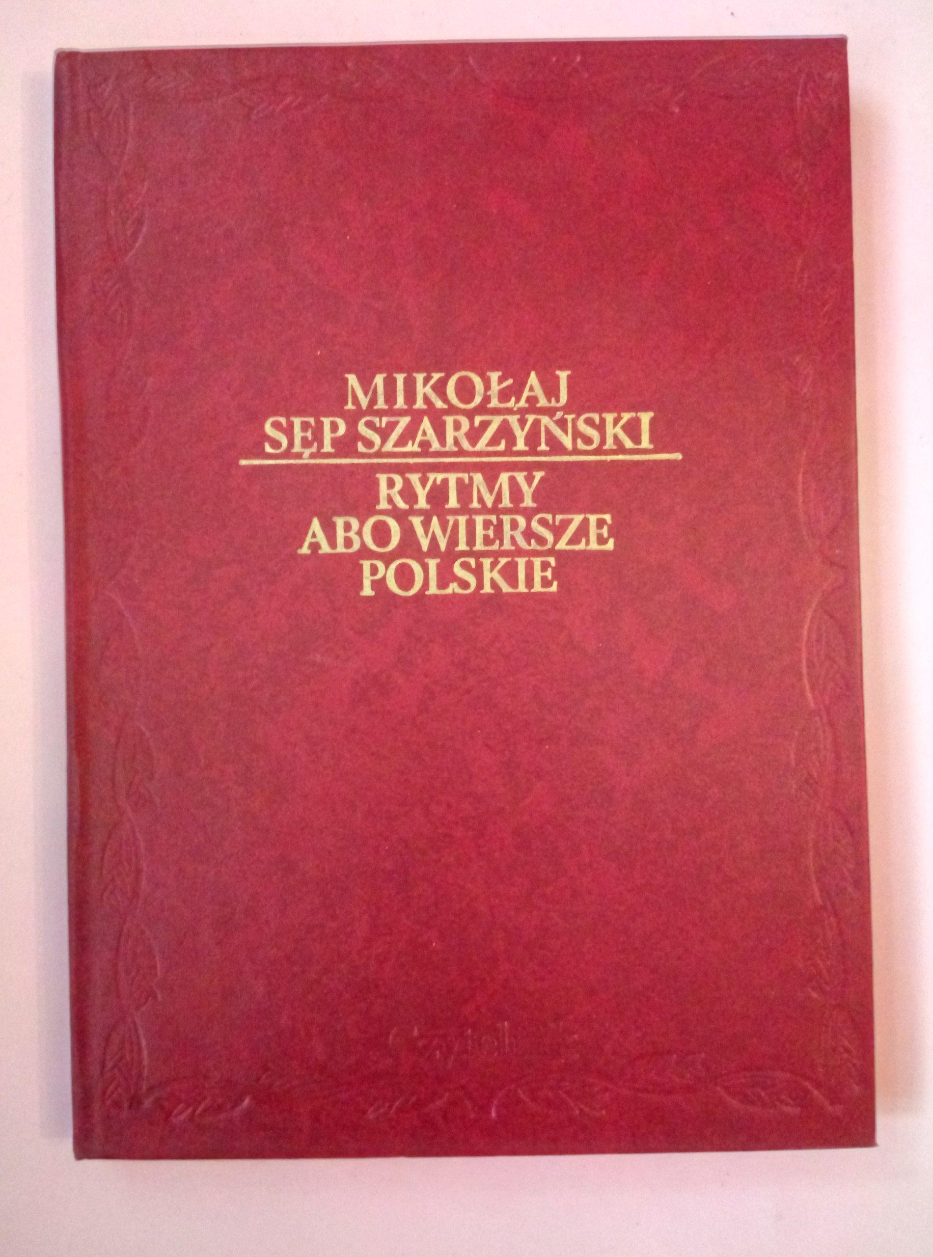 Rytmy Abo Wiersze Polskie Mikołaj Sęp Szarzyński