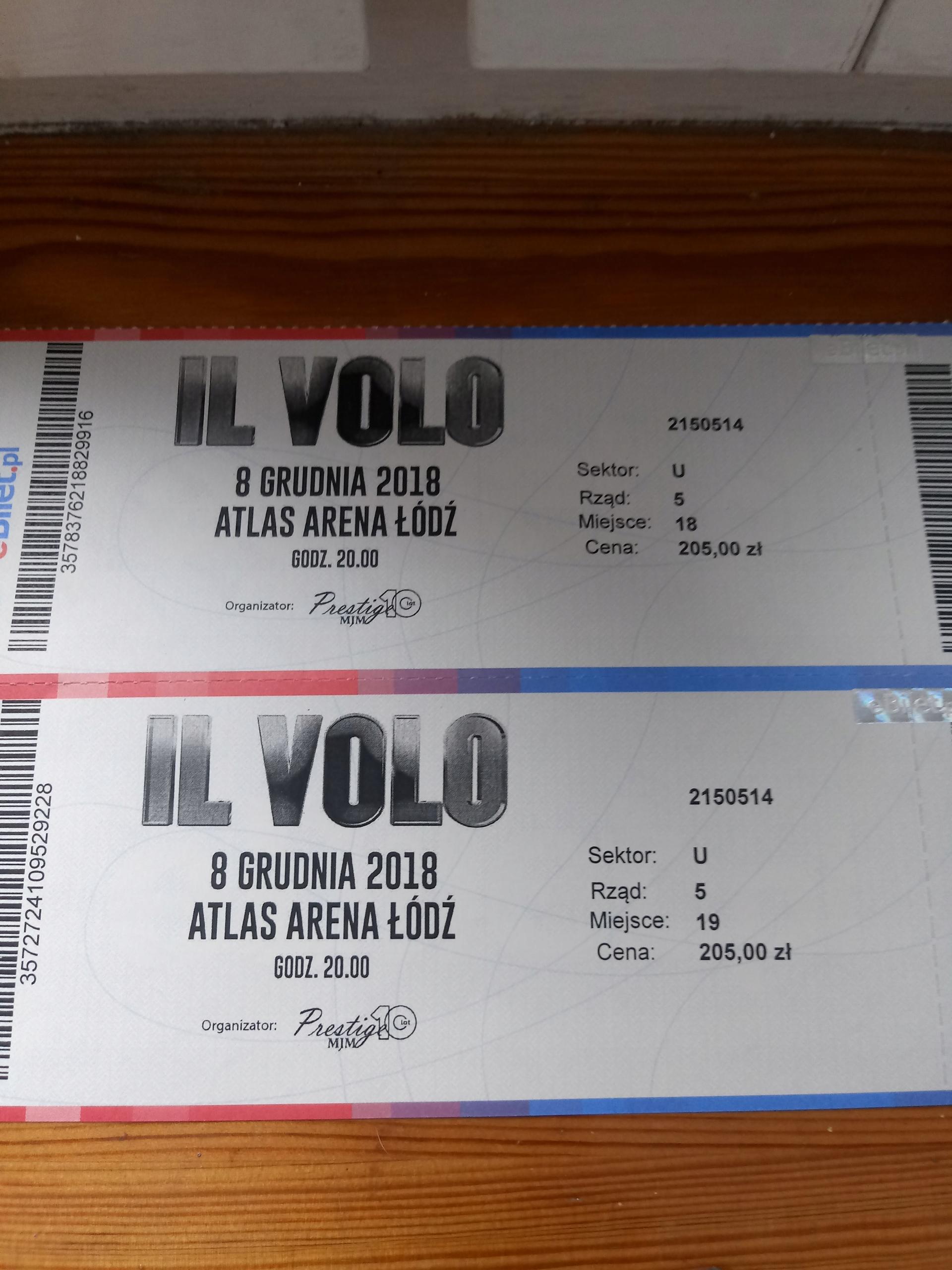 bilety na koncert IL VOLO